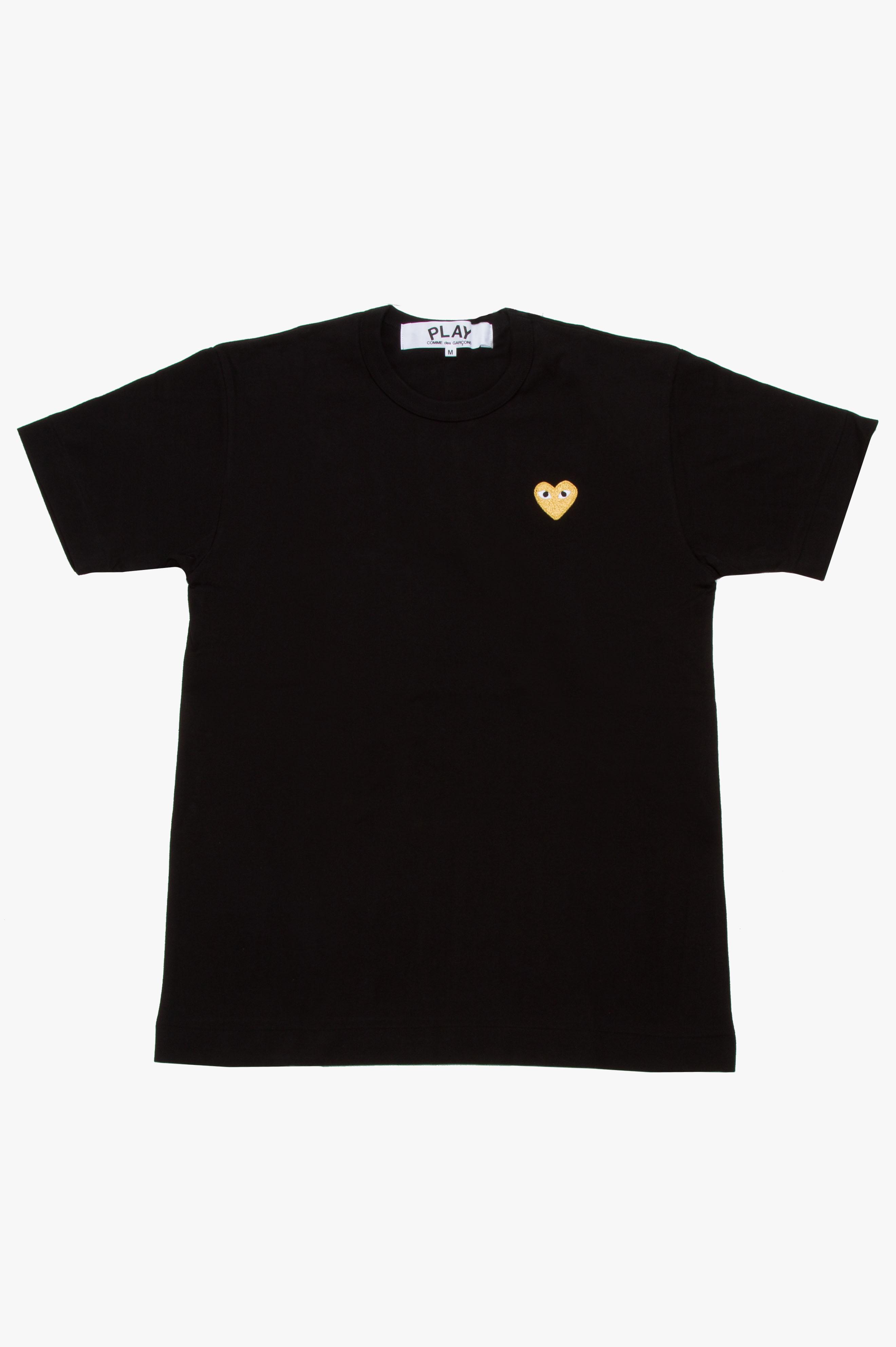 Gold Heart T-Shirt Black