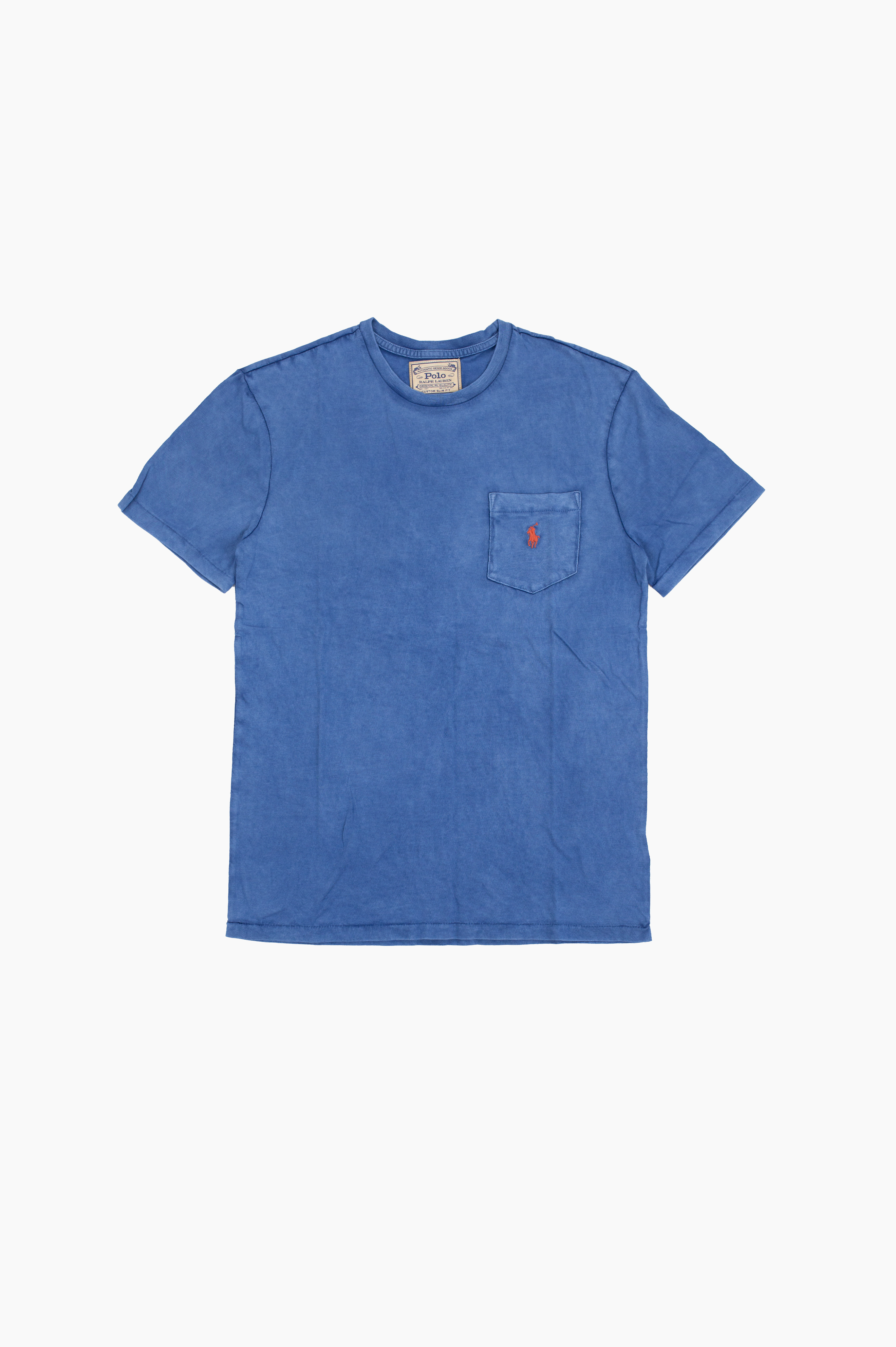 Washed Pocket T-Shirt Cruise Navy