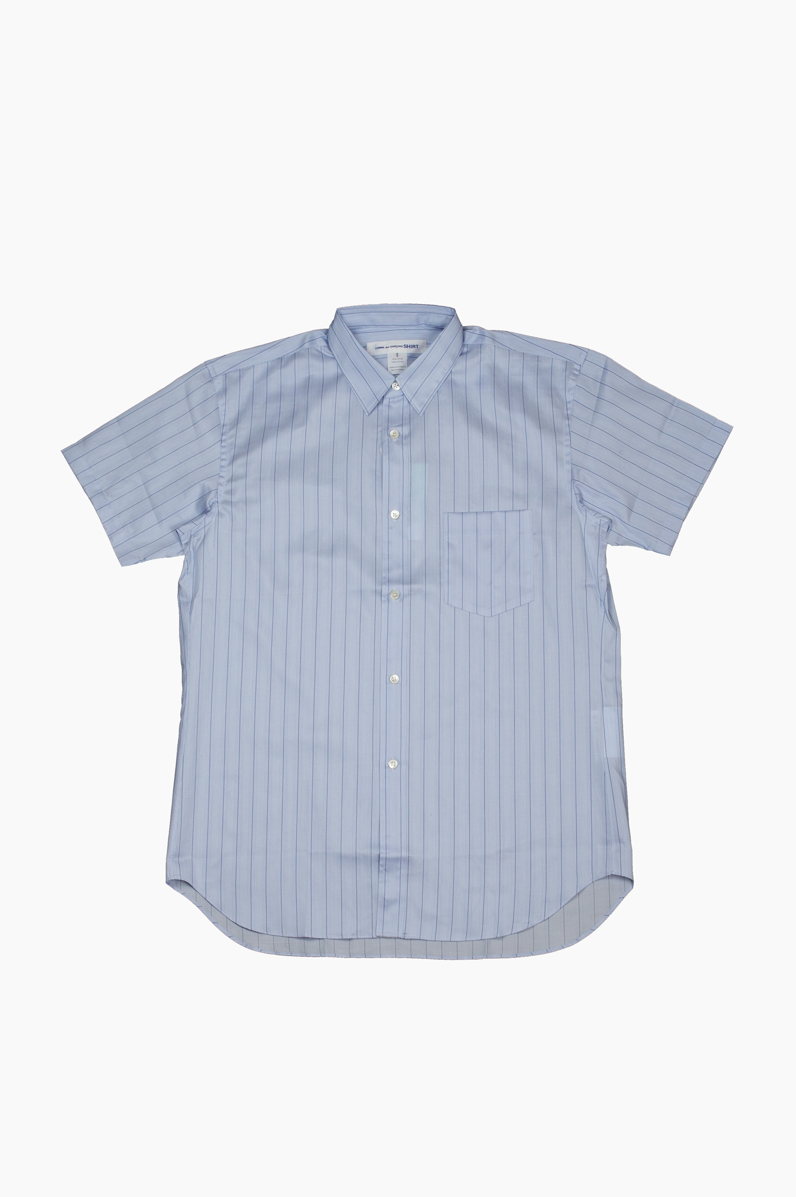 Stripes Short Sleeve Shirt Blue