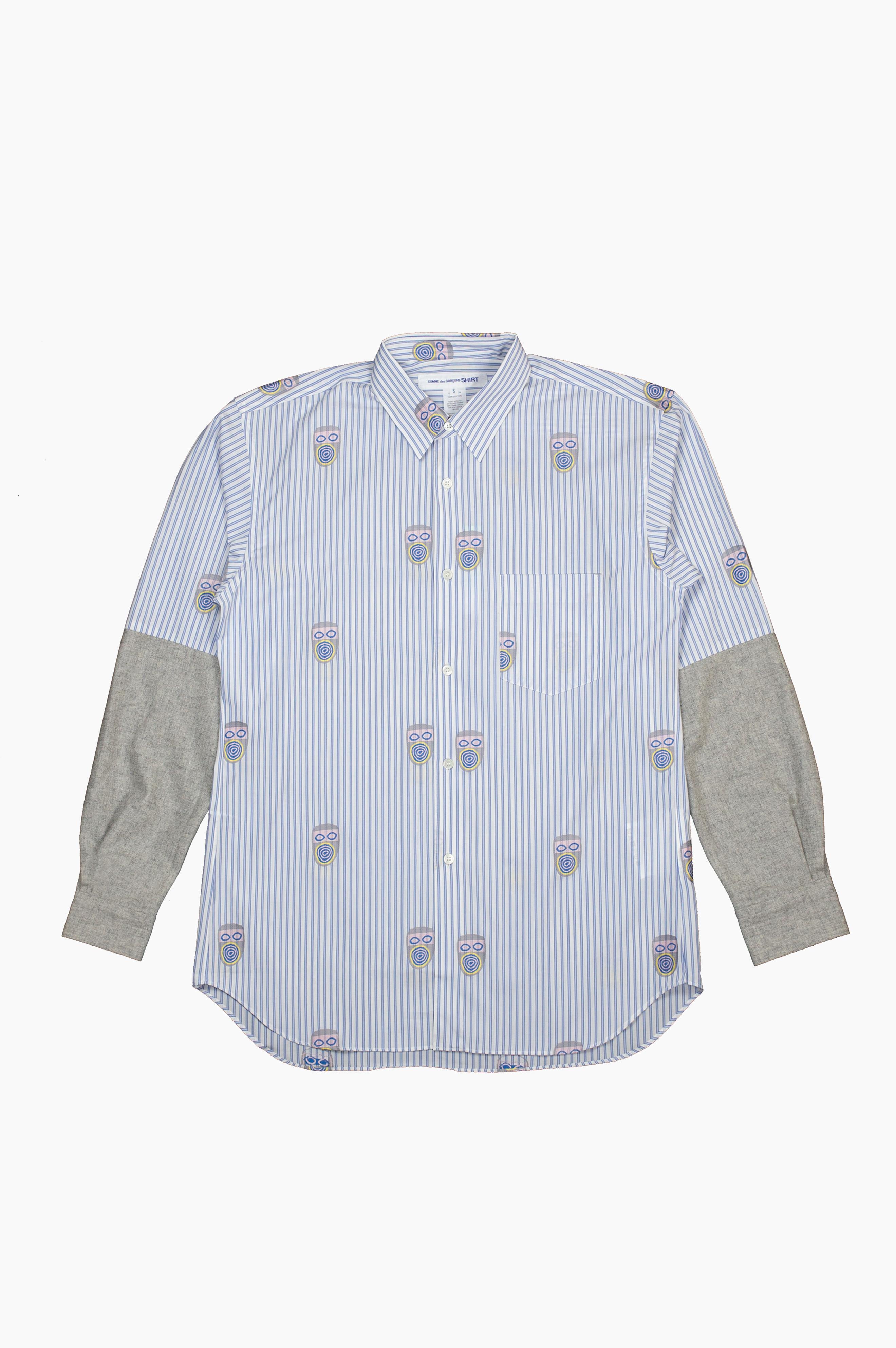 Stripes Mask Shirt White/Blue