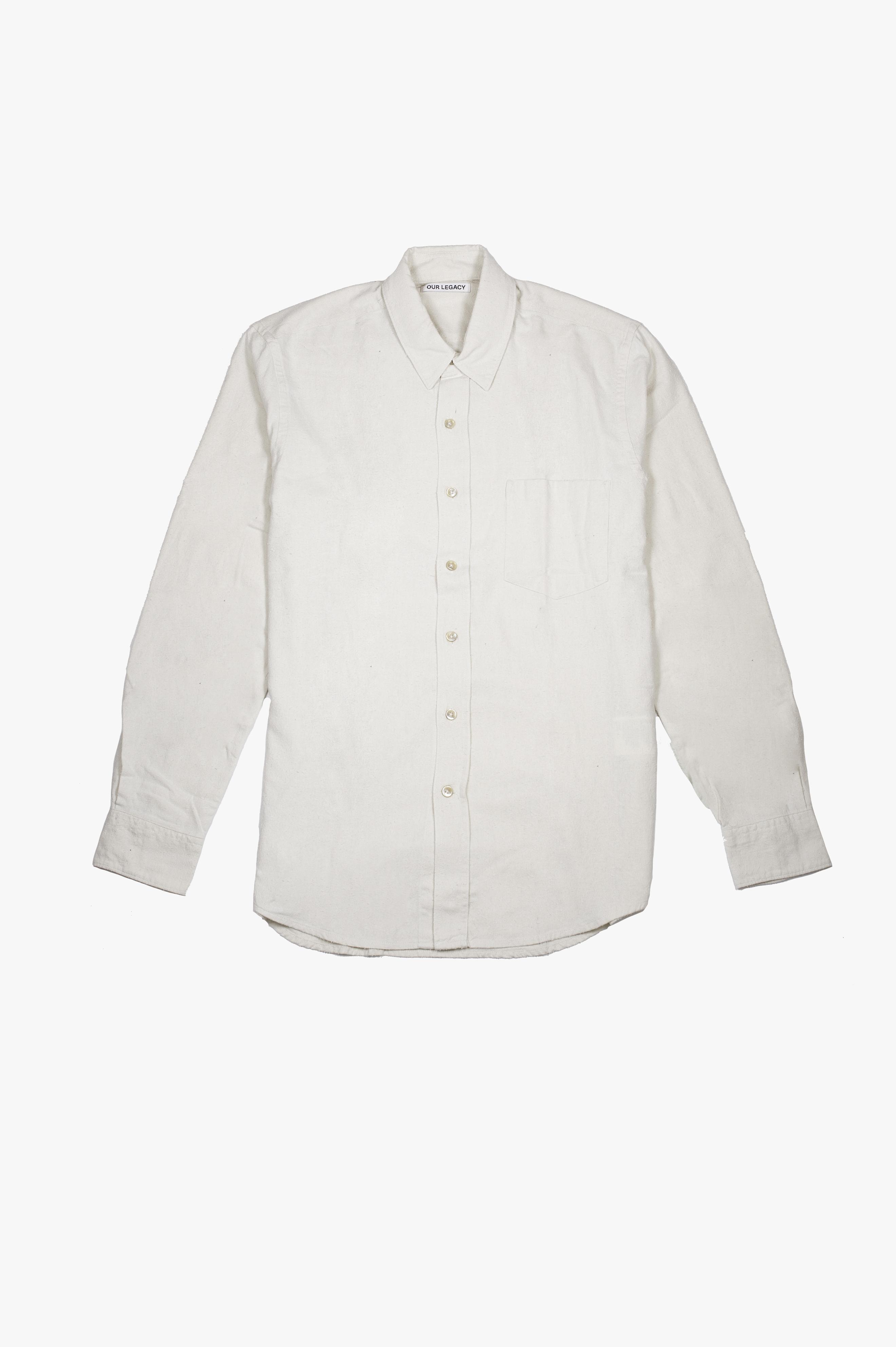 Classic Shirt White Silk