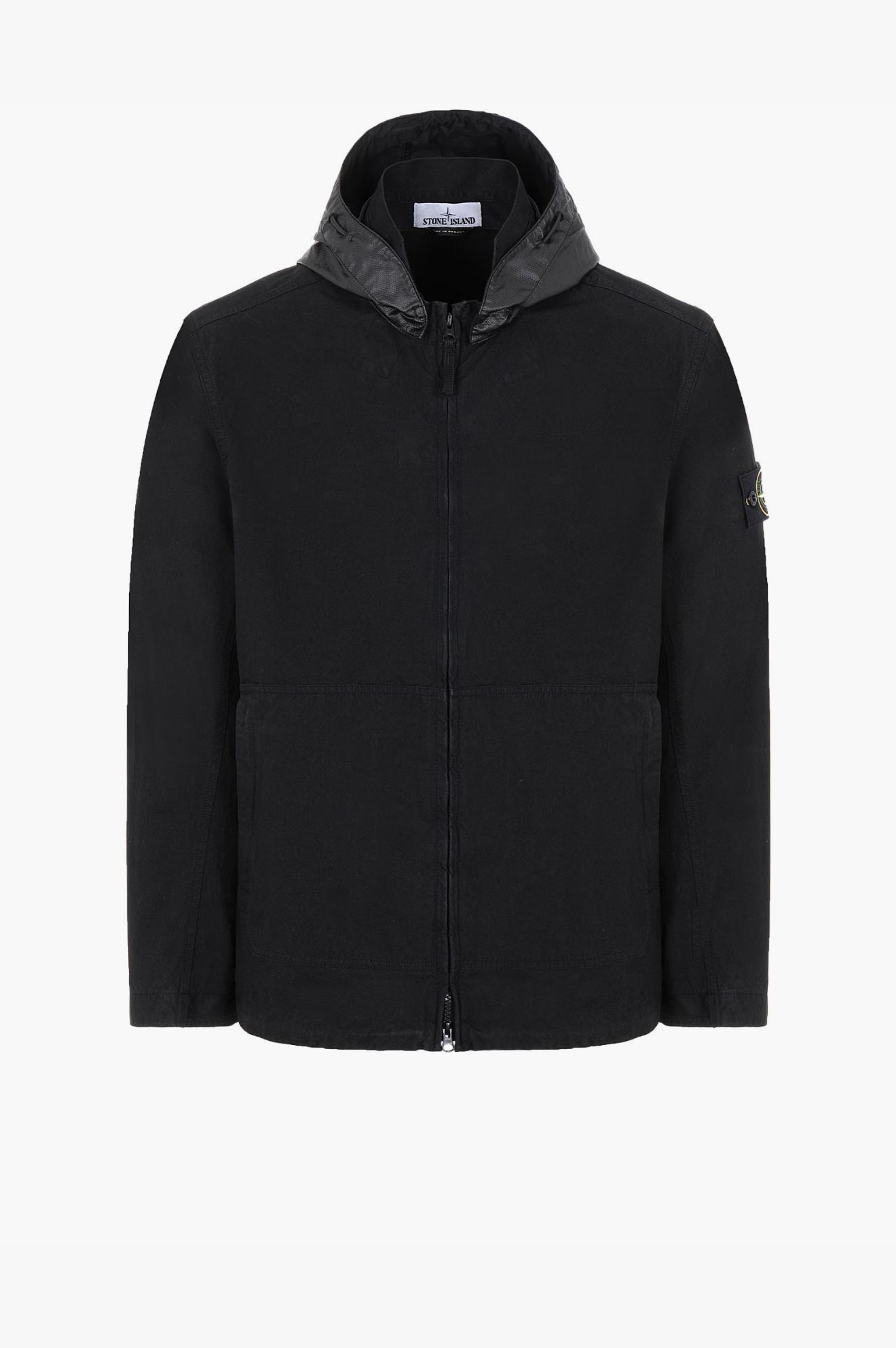 Cotton/Cordura Hooded Jacket Black