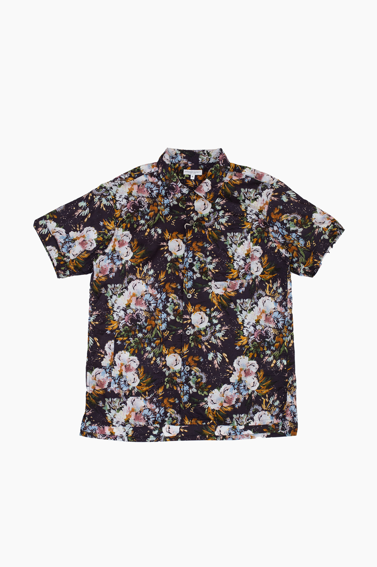 Short Sleeve Botany Camp Shirt Navy