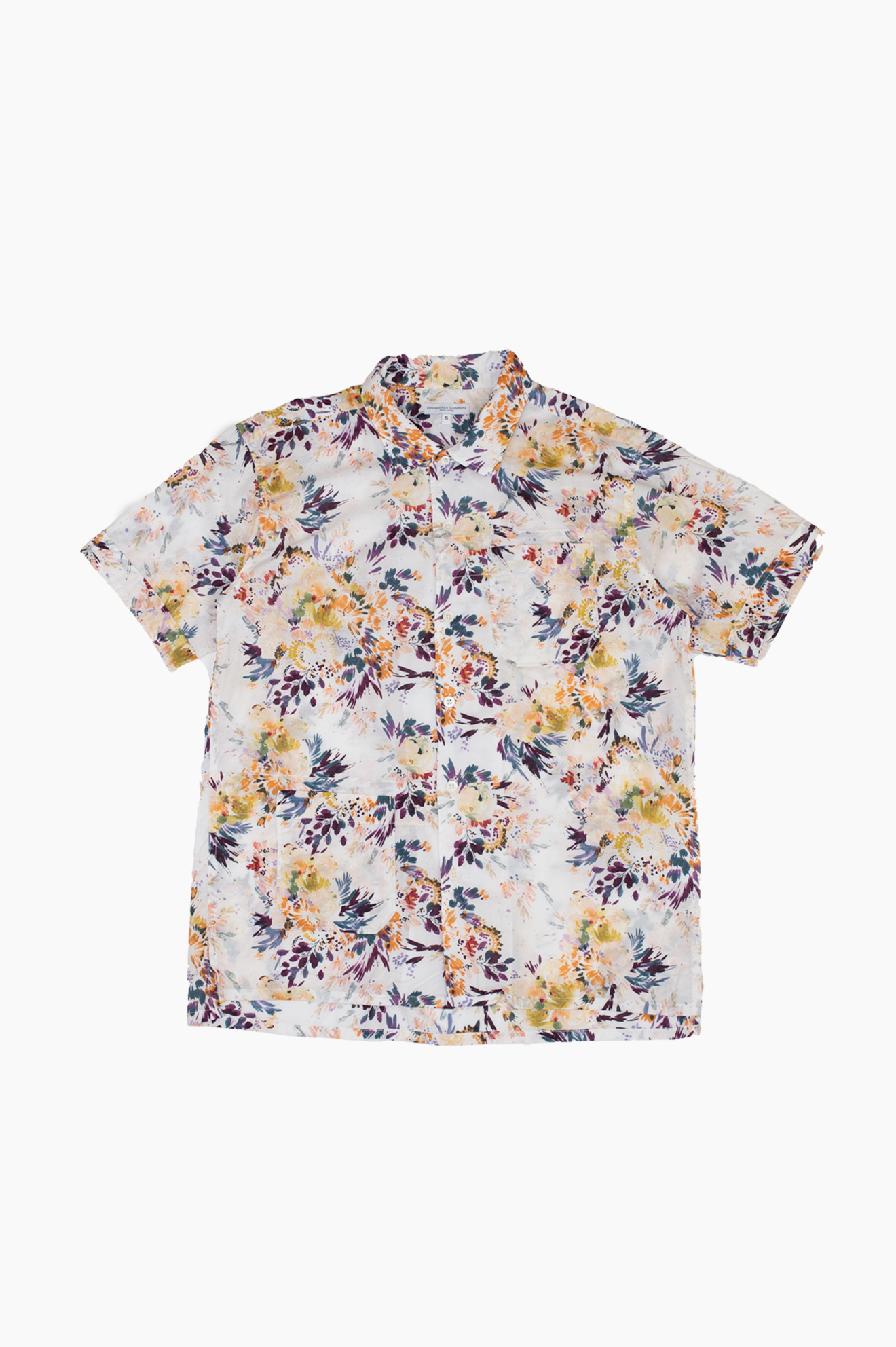 Short Sleeve Botany Camp Shirt White