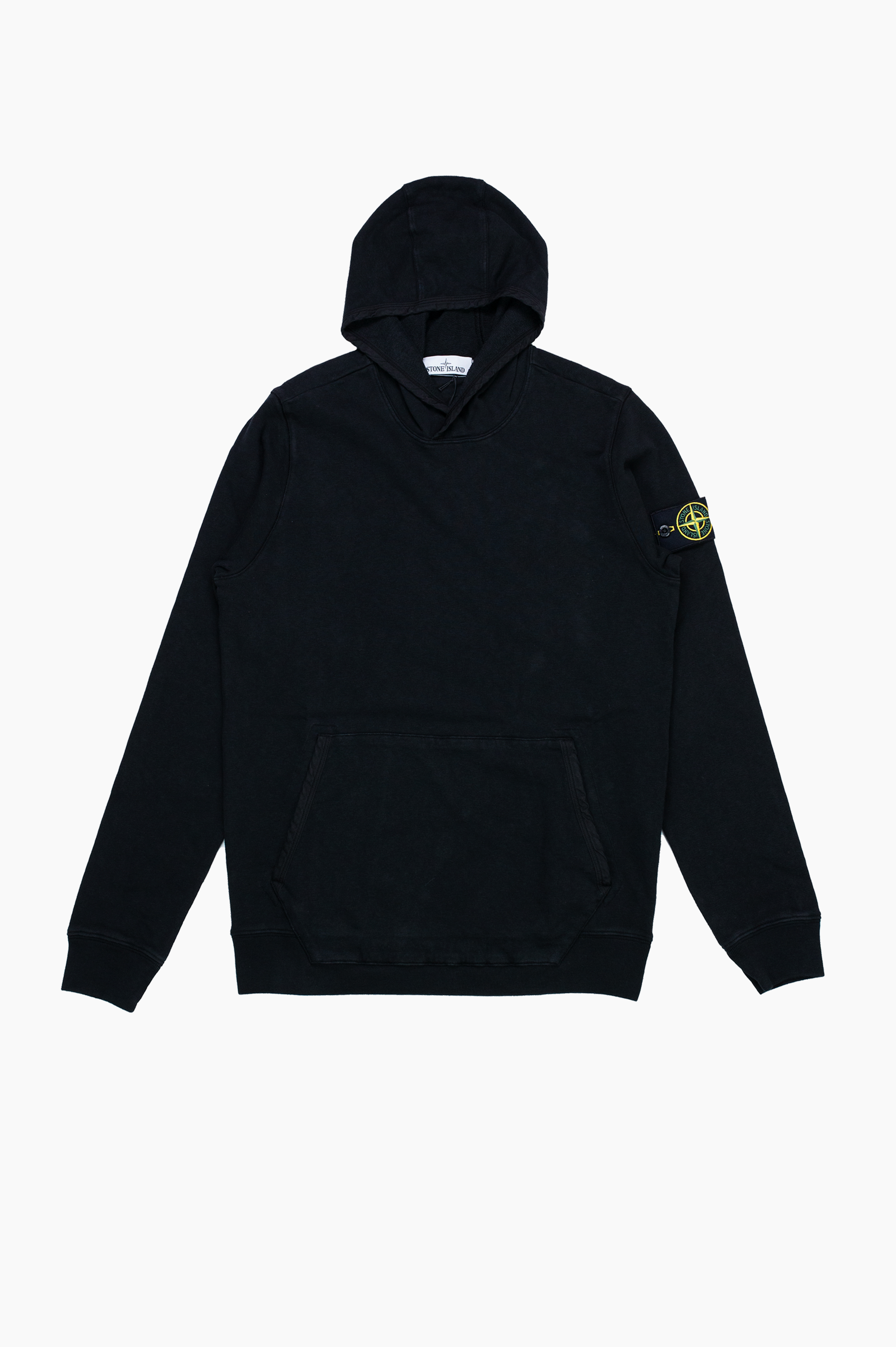 'Old' Dye Treatment Hooded Sweatshirt Black