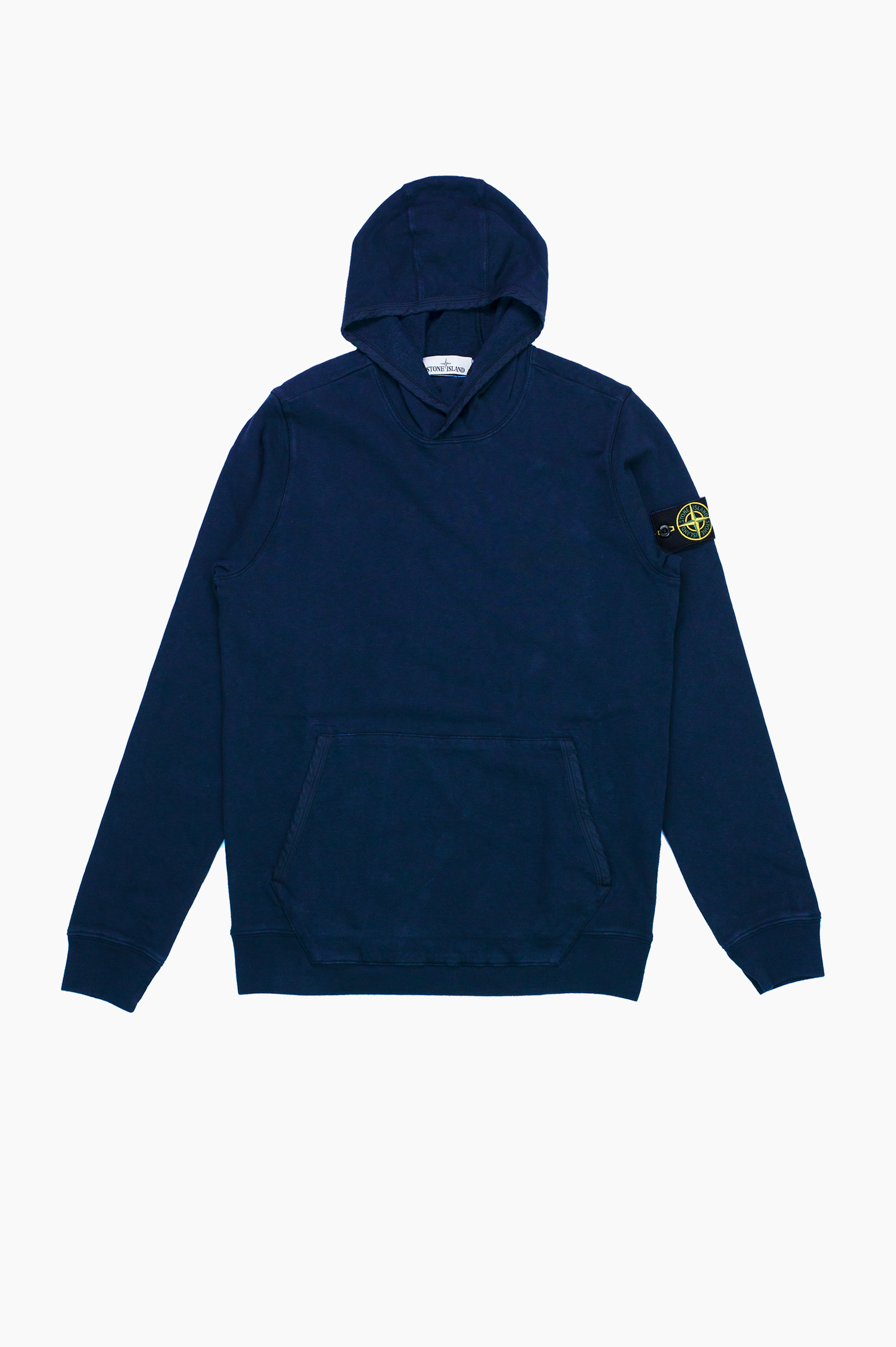 'Old' Dye Treatment Hooded Sweatshirt Blue