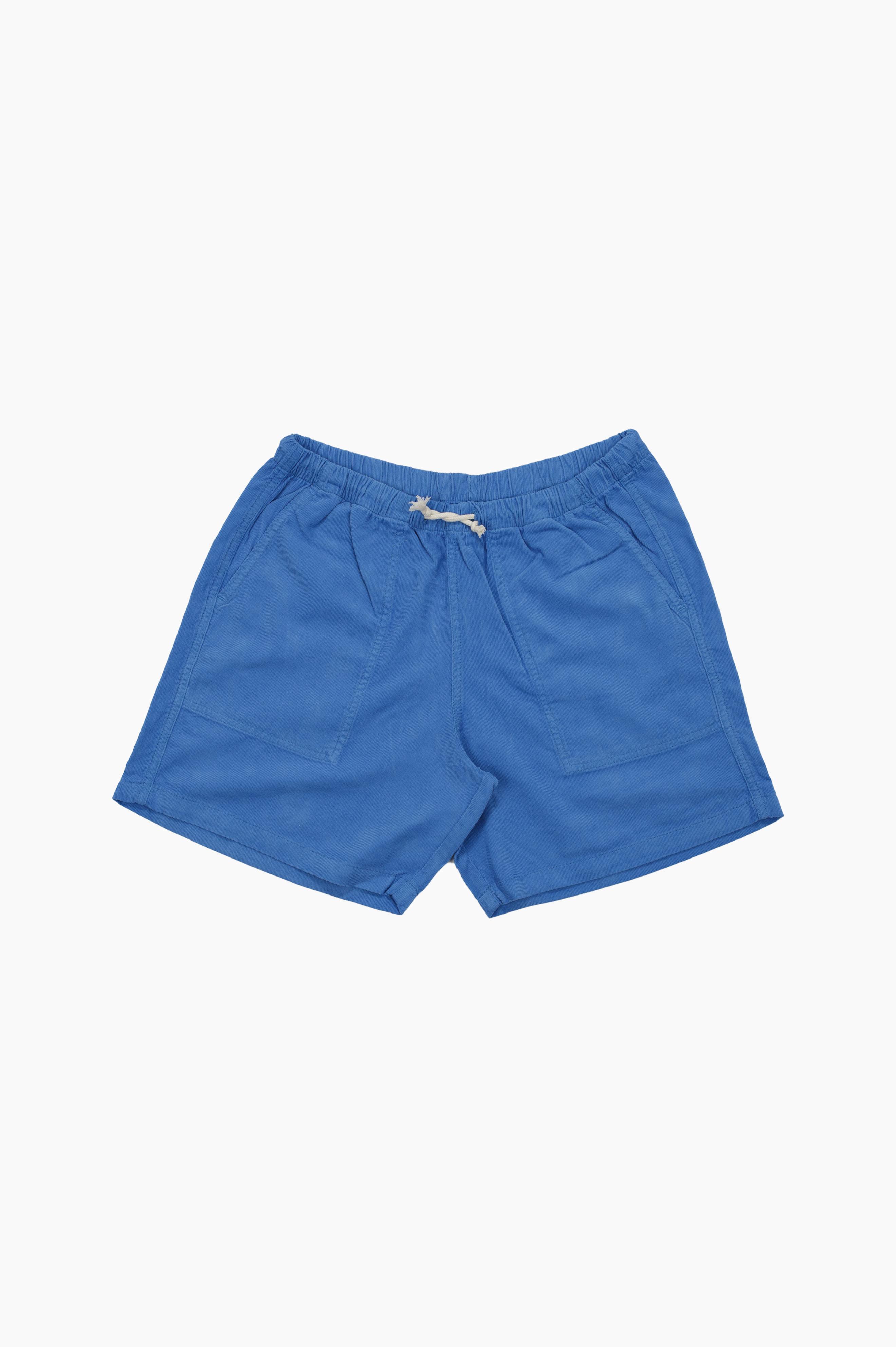 Corduroy Short Pants Blue