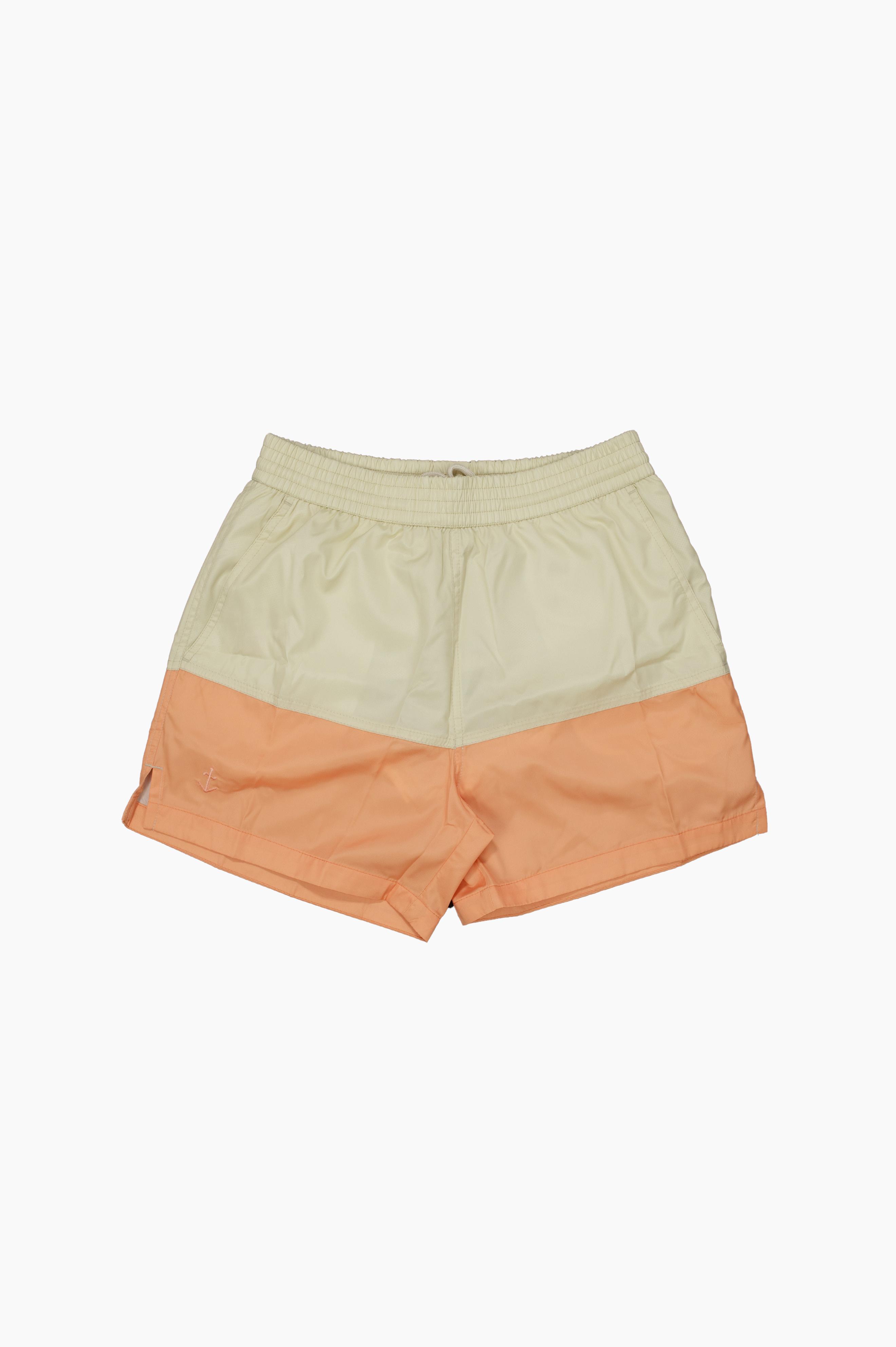 Swim Shorts Ecru/Coral
