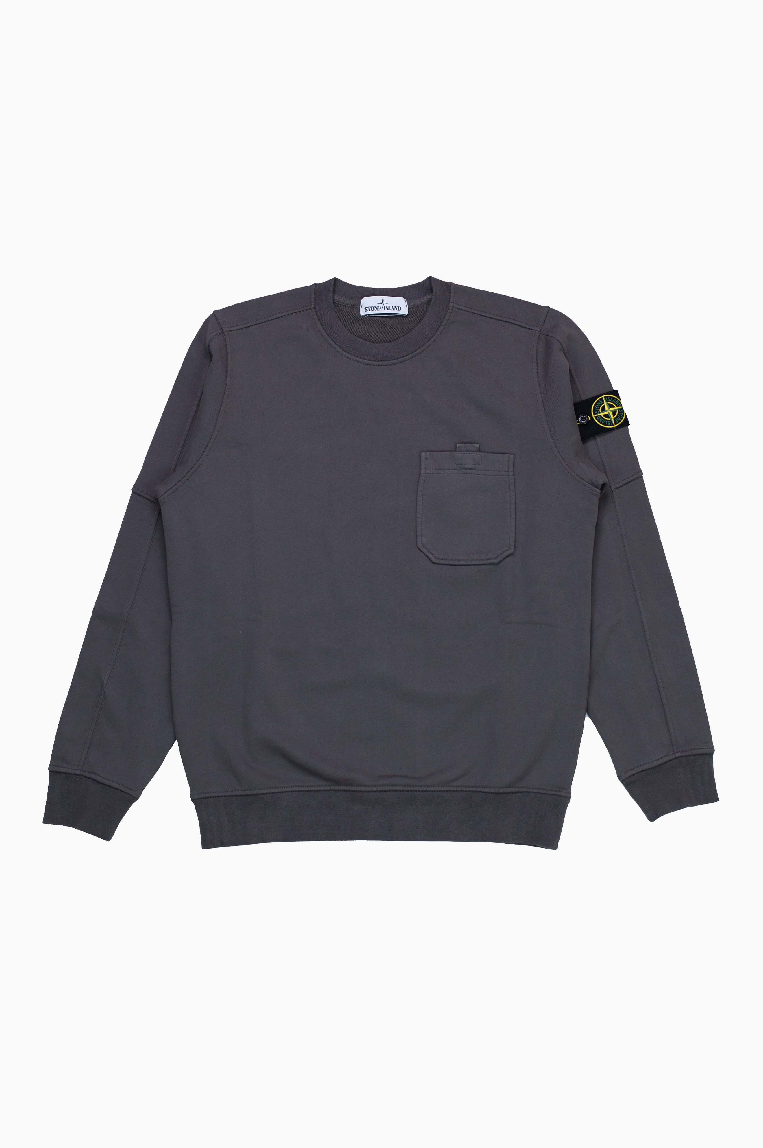 Pocket Sweatshirt Blue Grey