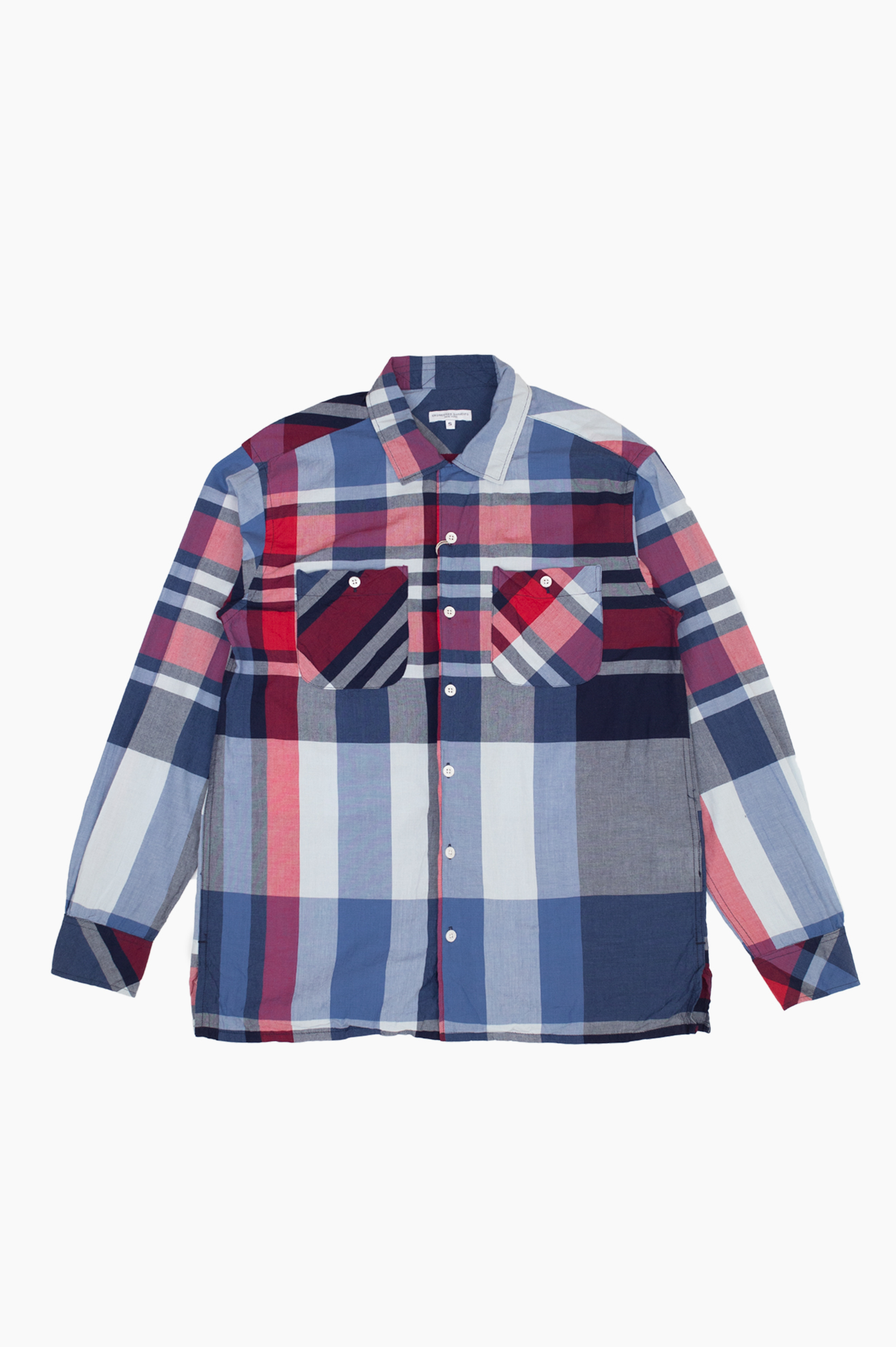 Classic Shirt Bib Madras Plaid Navy