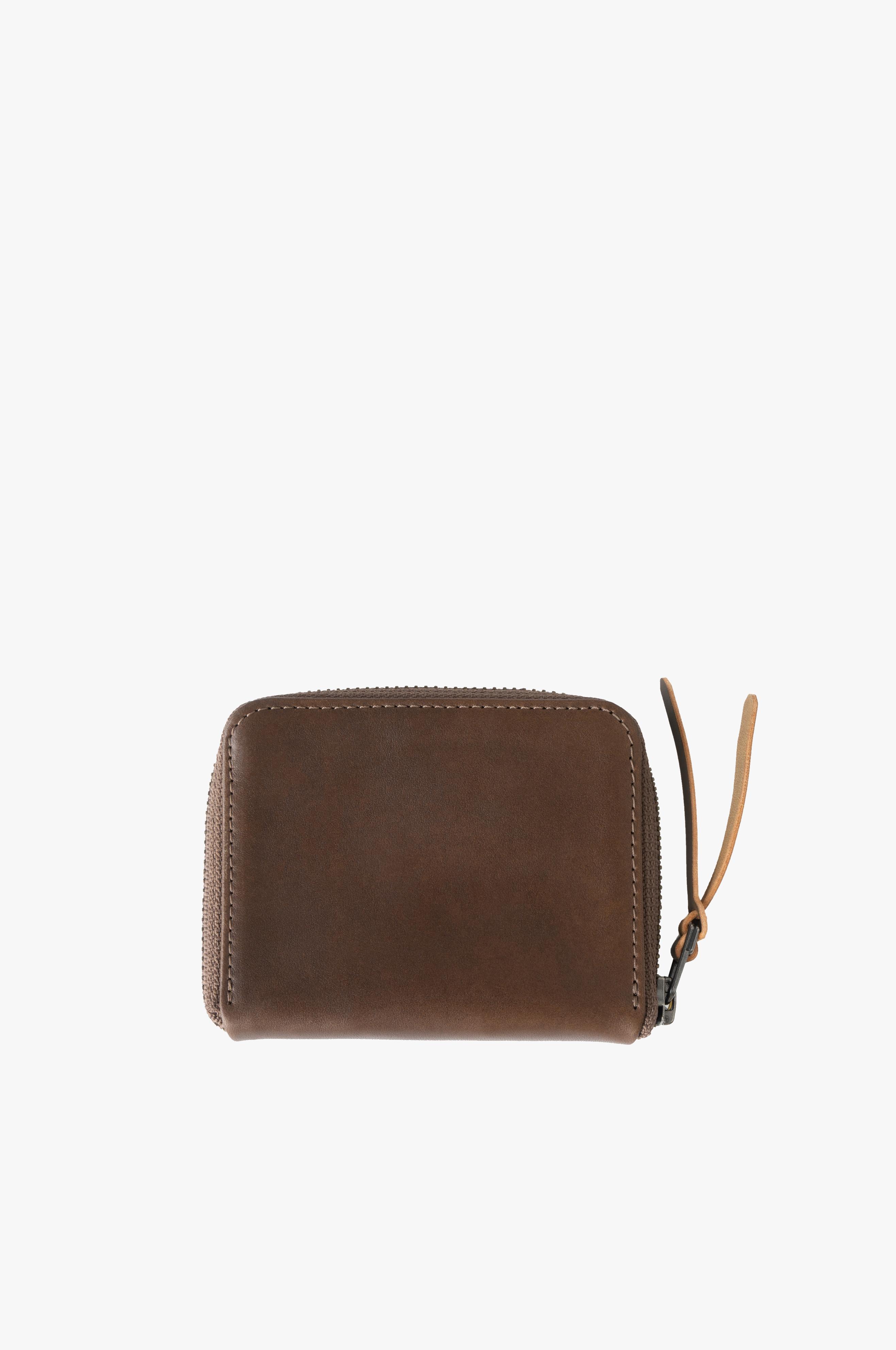 3/4 Zip Wallet Horween® Brown Latigo Leather