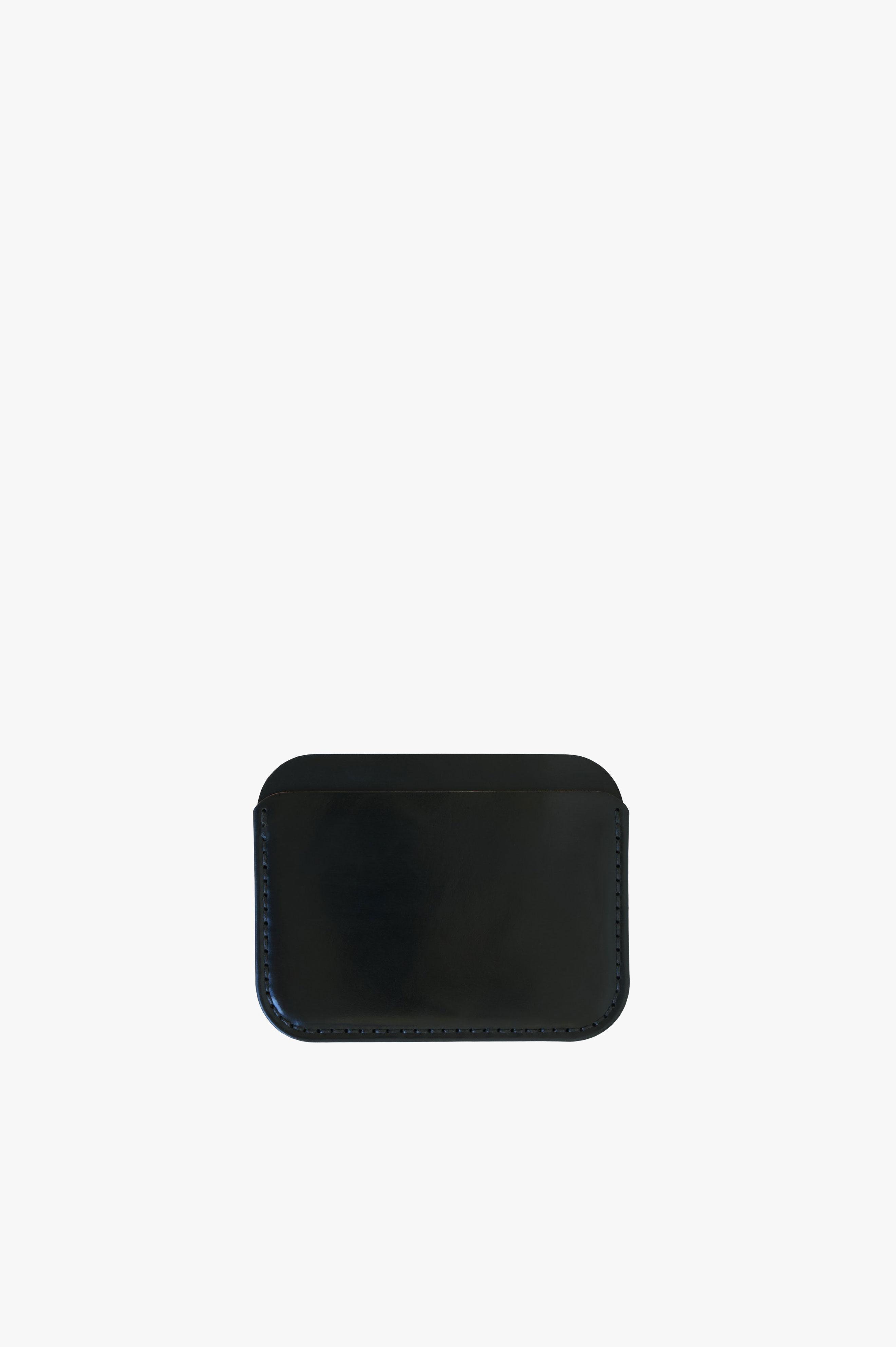 Round Luxe Wallet Black Essex Horween® Leather
