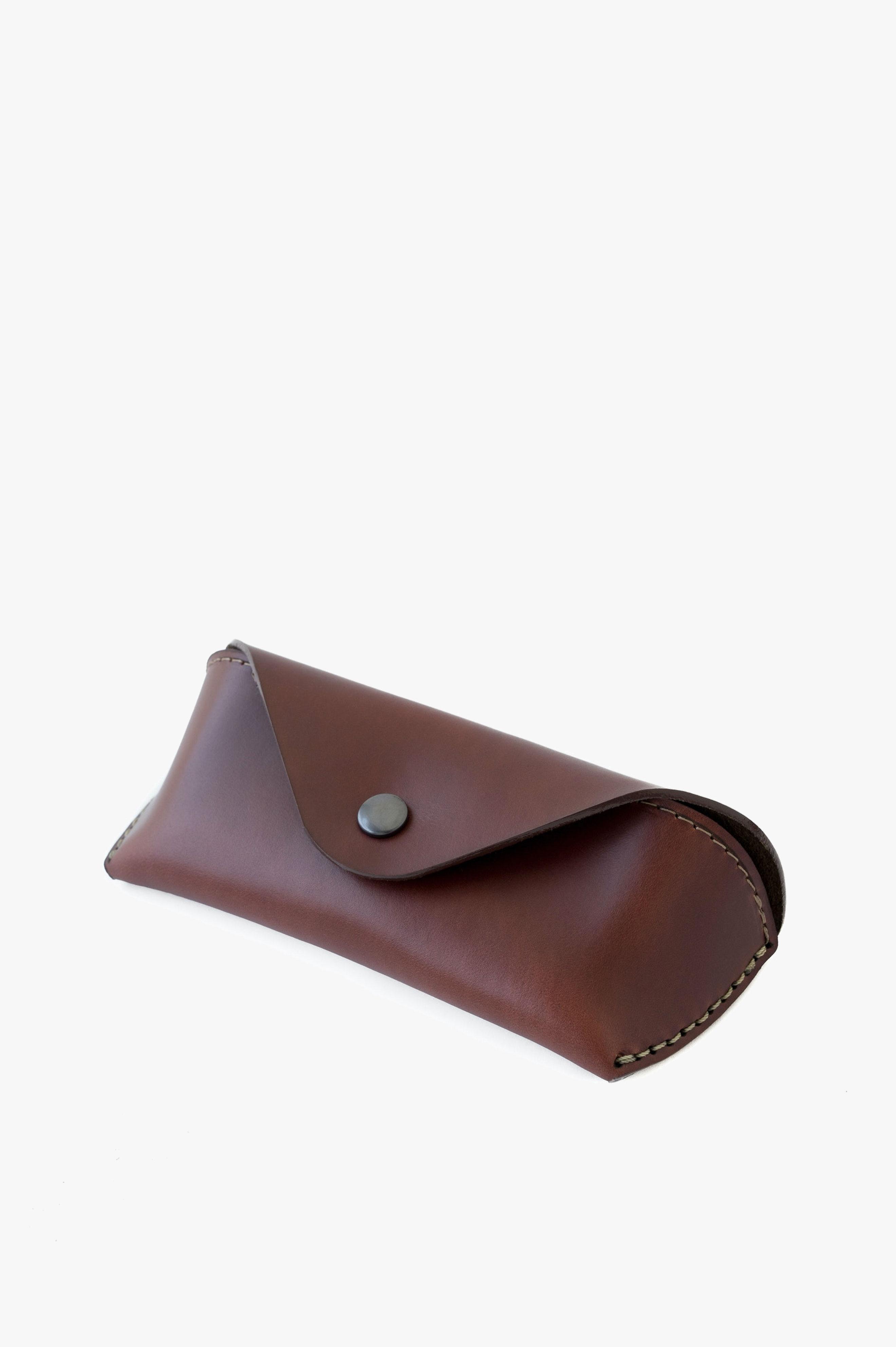 Eyewear Case Ox Blood Horween® Chromexcel Leather