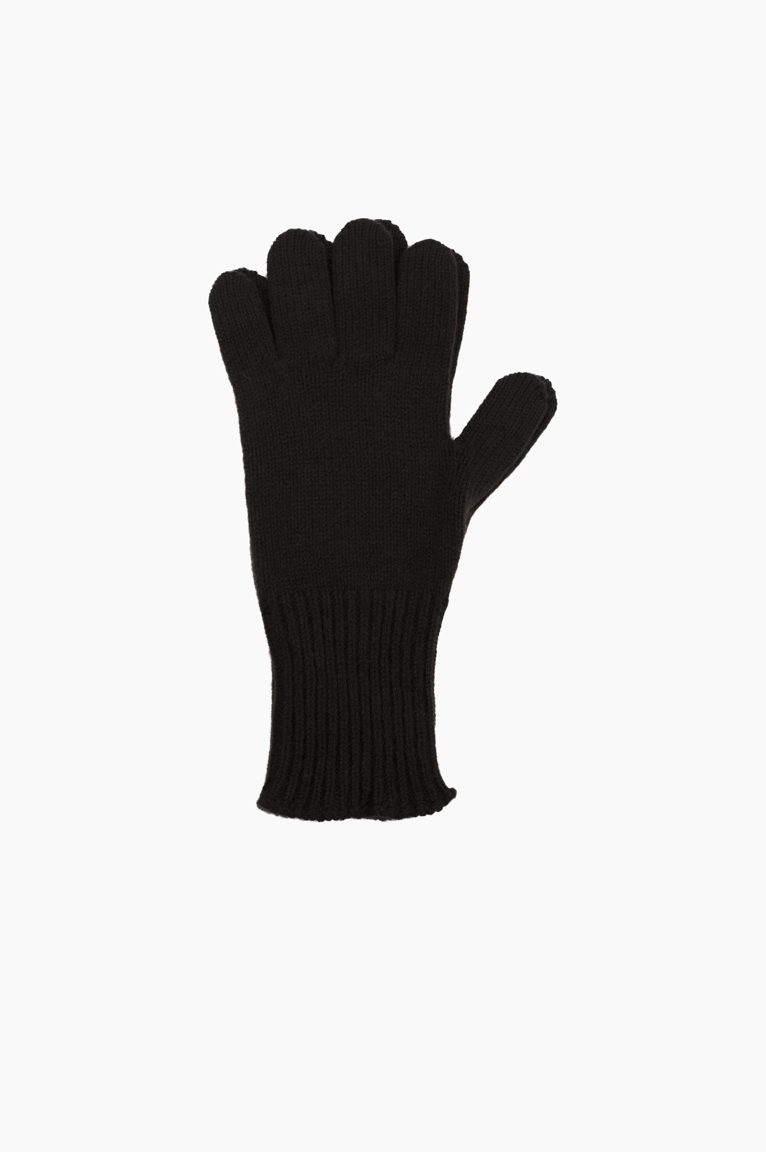 Long Cuff Glove Merino Cashmere Ebony