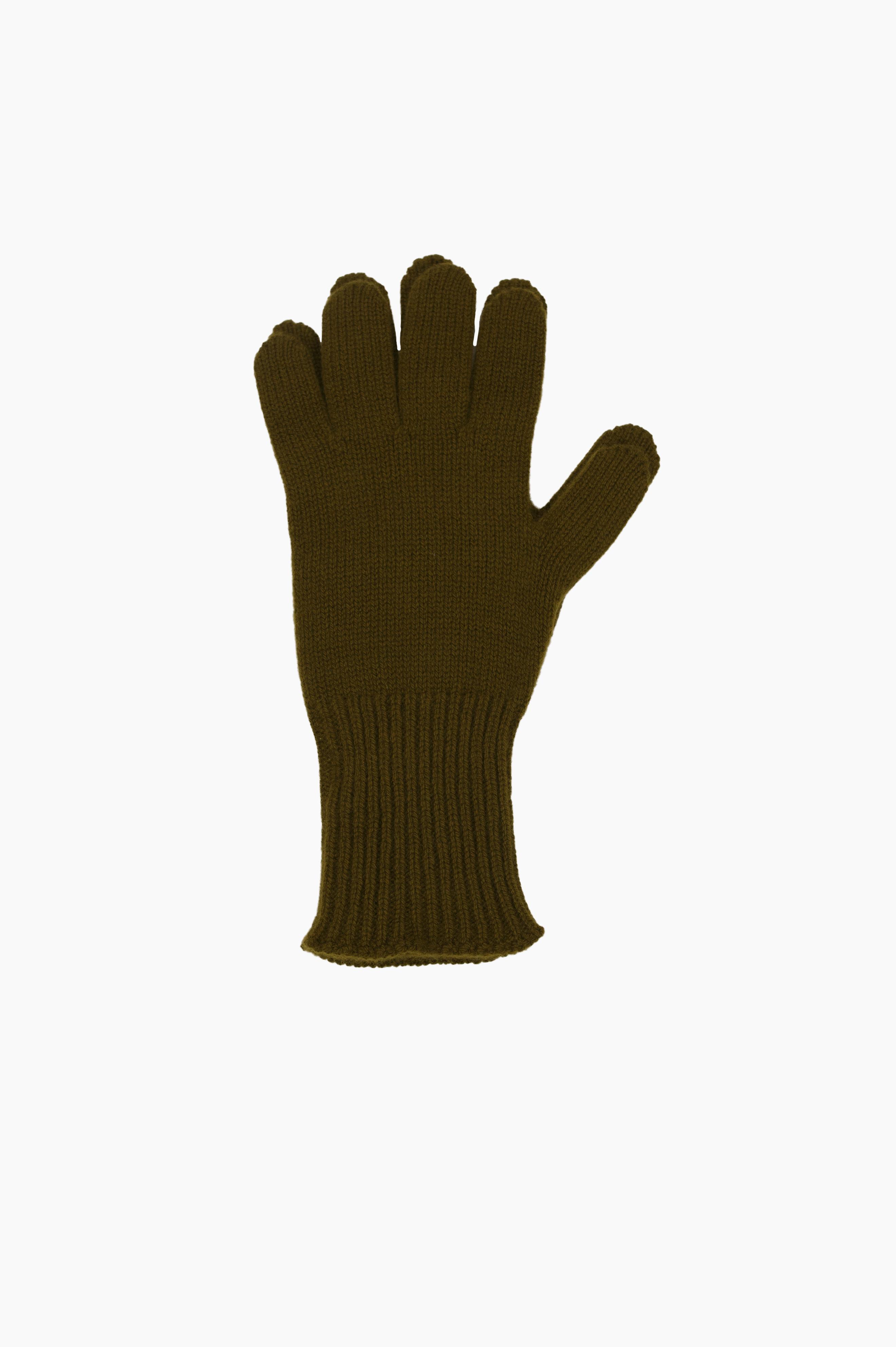 Long Cuff Glove Merino Cashmere Olive