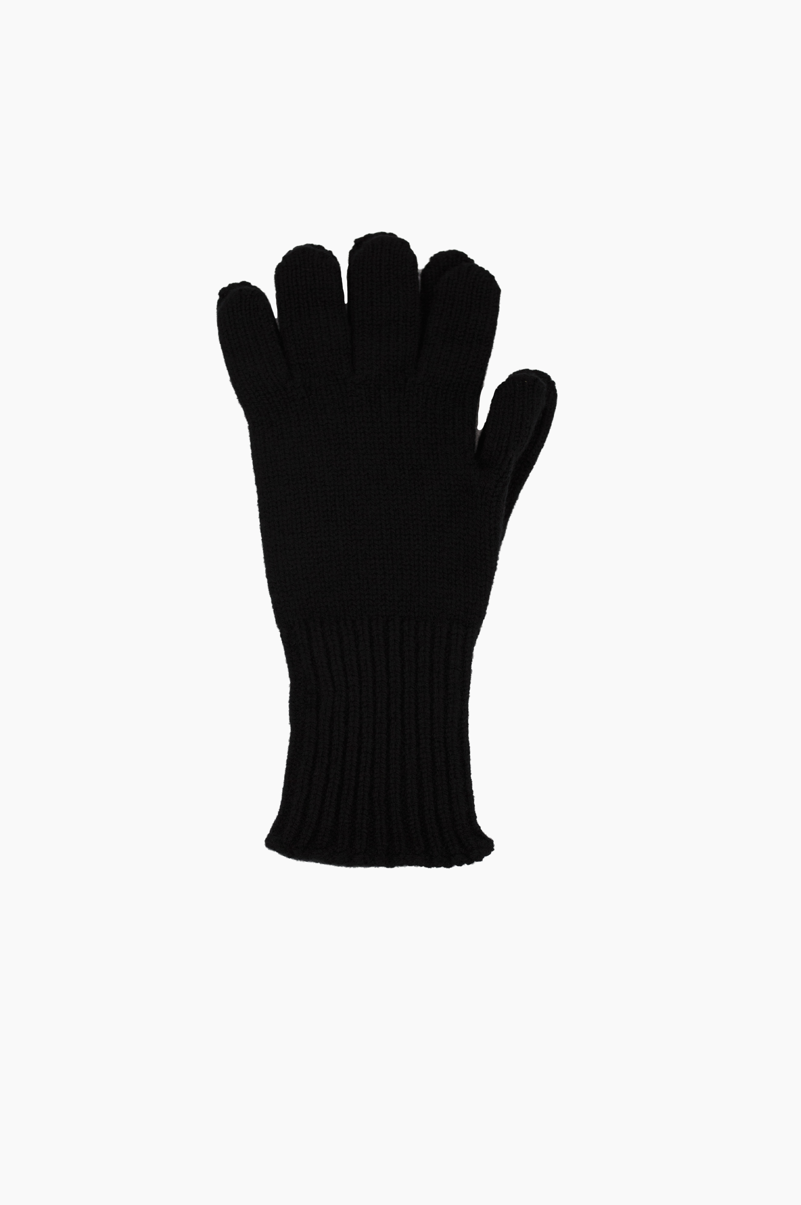 Long Cuff Glove Merino Cashmere Black