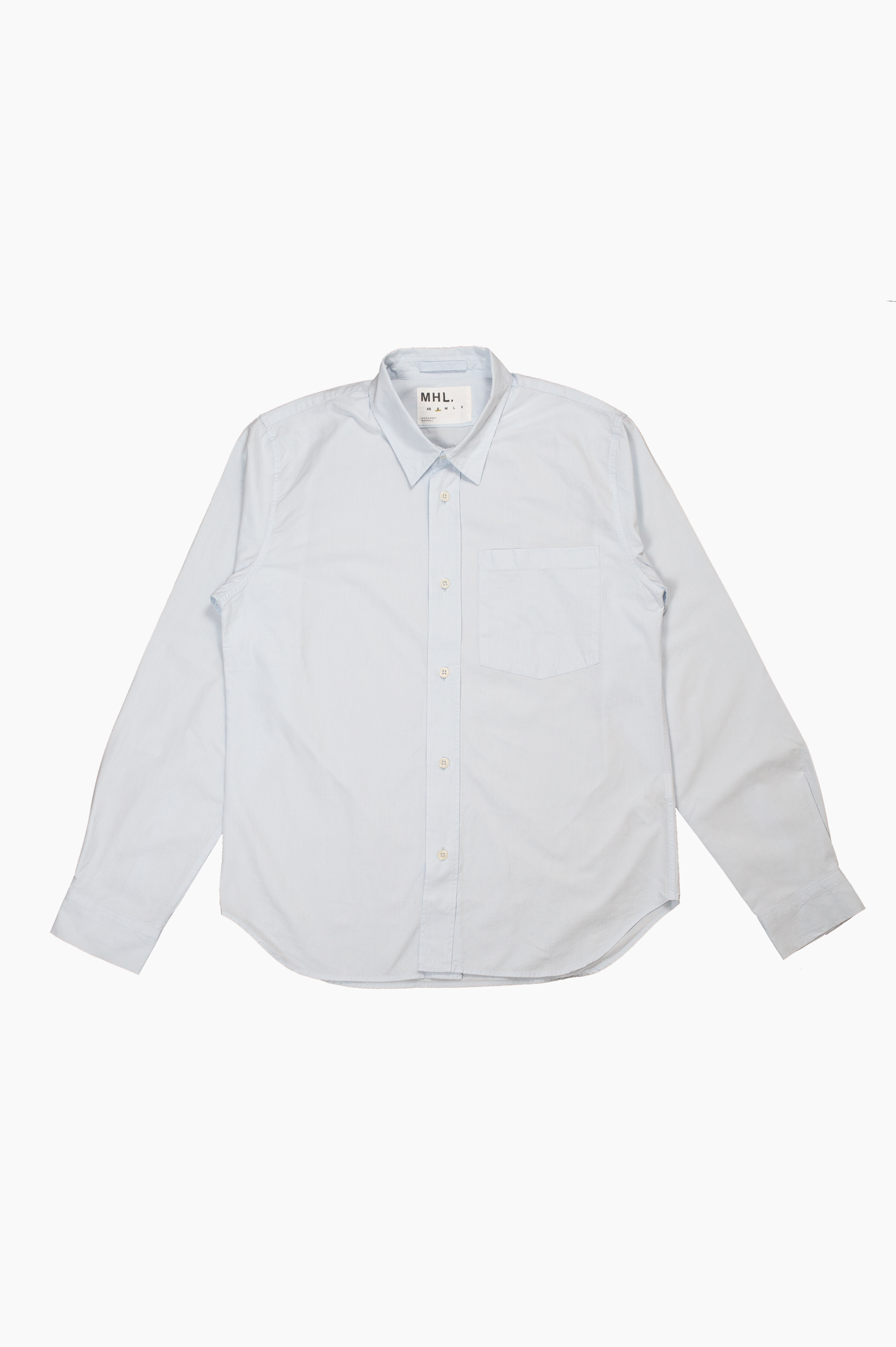 Worker Shirt Dense Poplin Pale Blue
