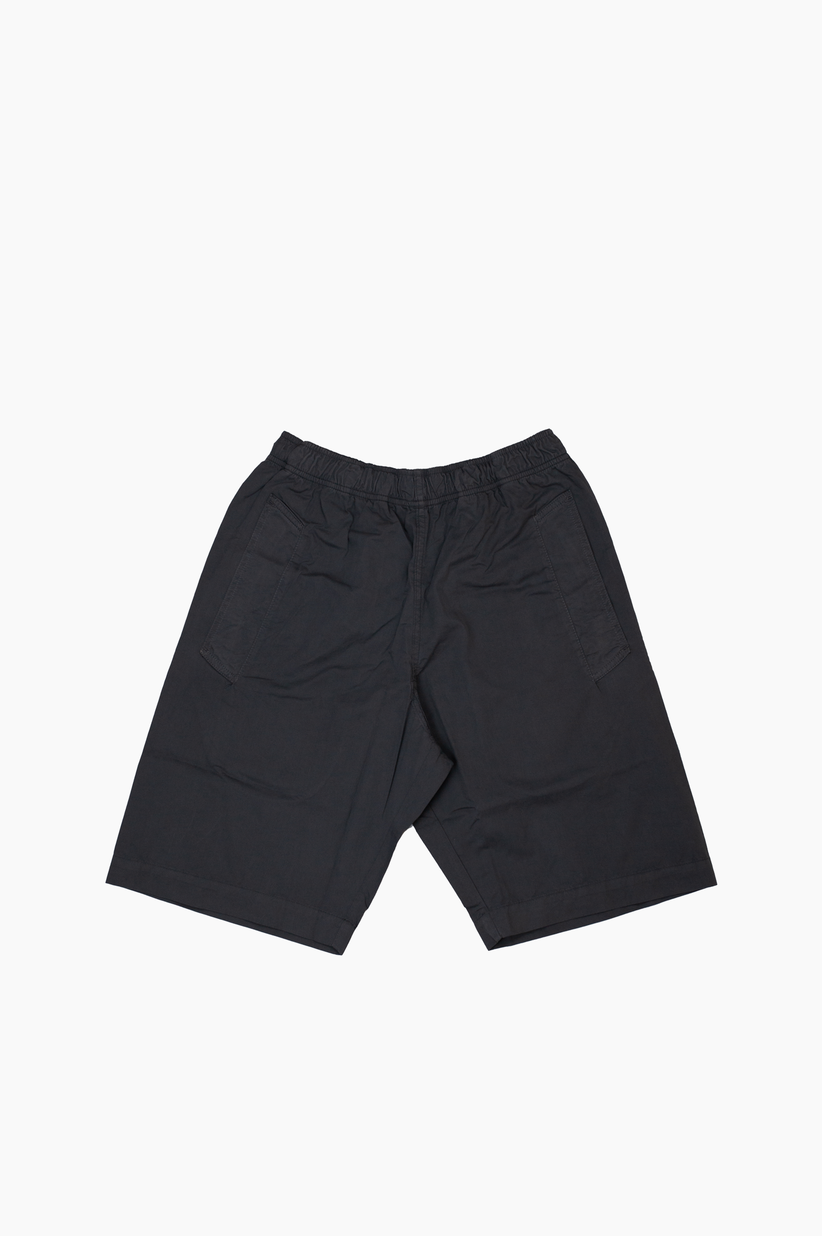 Jogger Short Fine Cotton Twill Charcoal