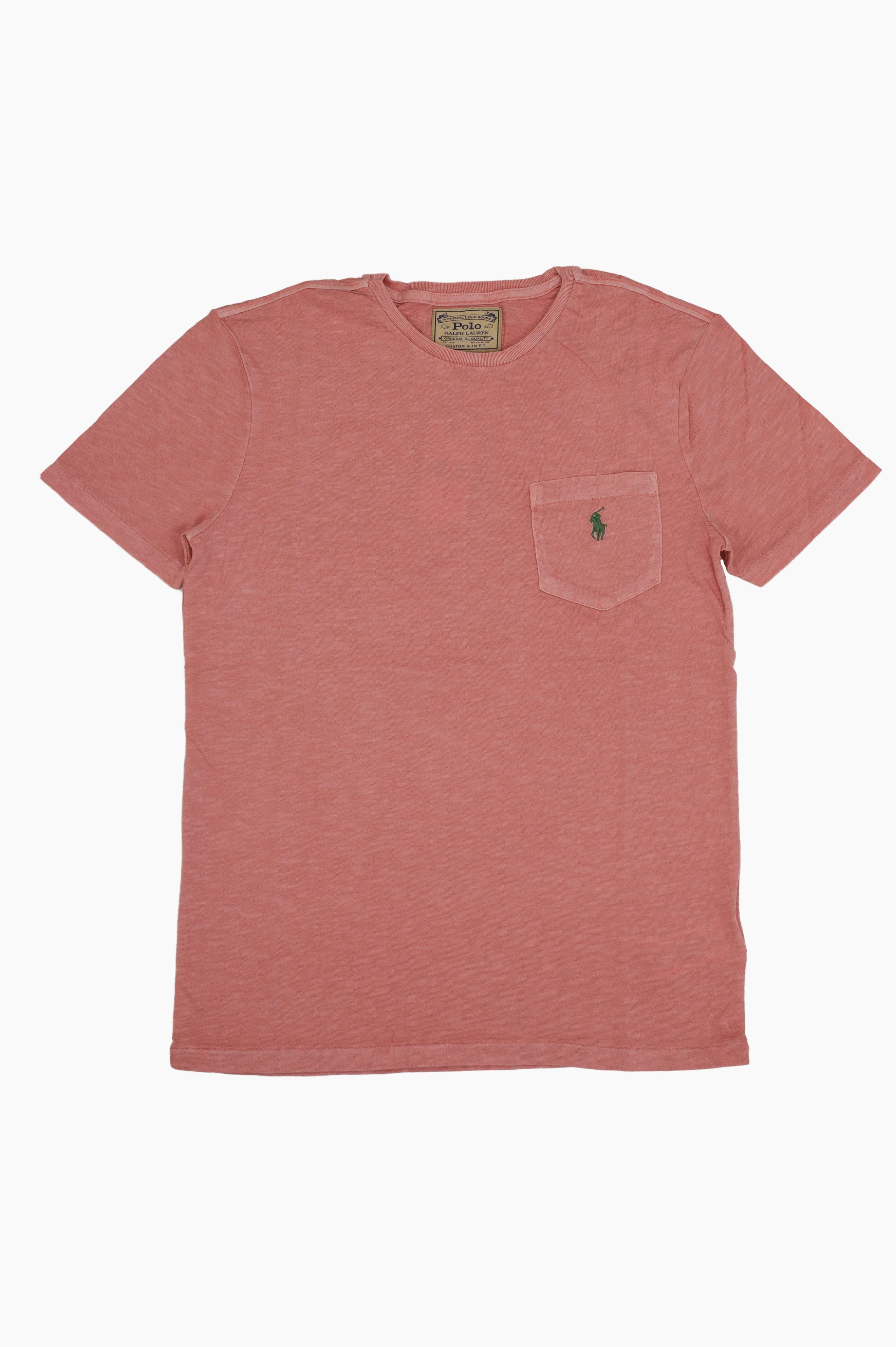 Washed Pocket T-Shirt Pink