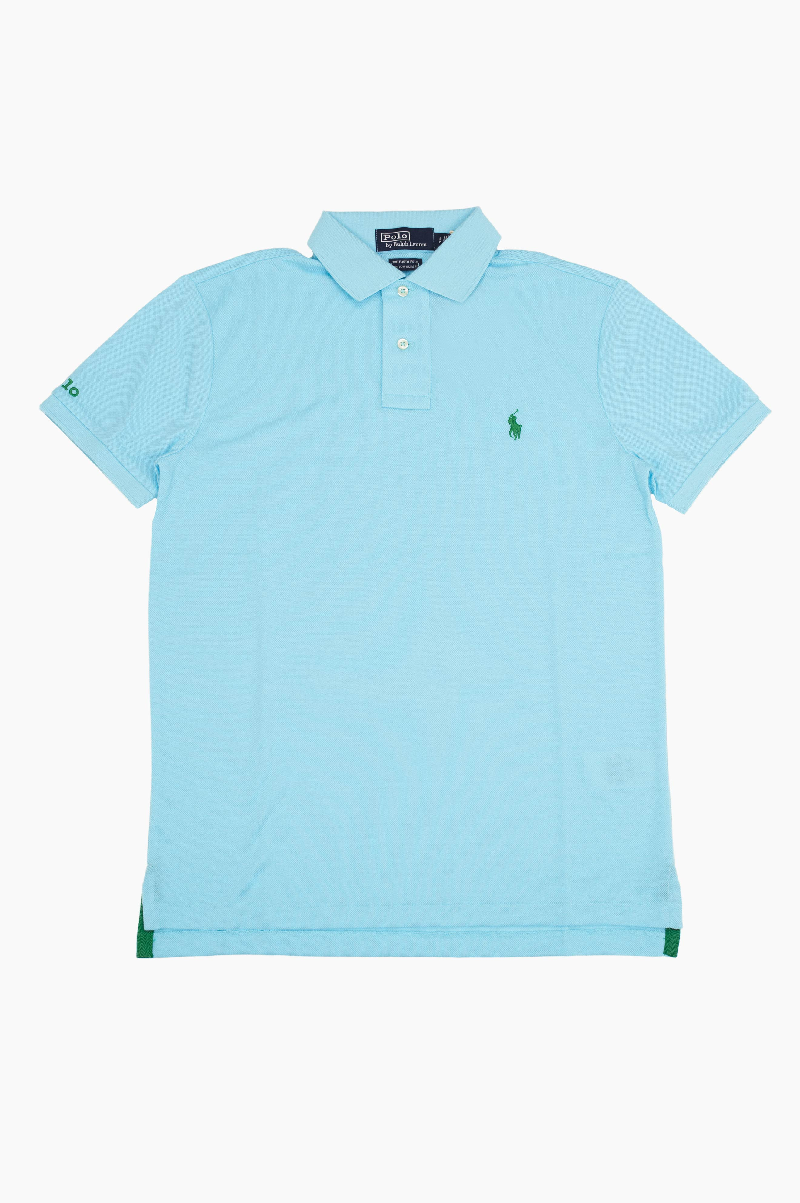 Earth Polo Shirt Light Blue
