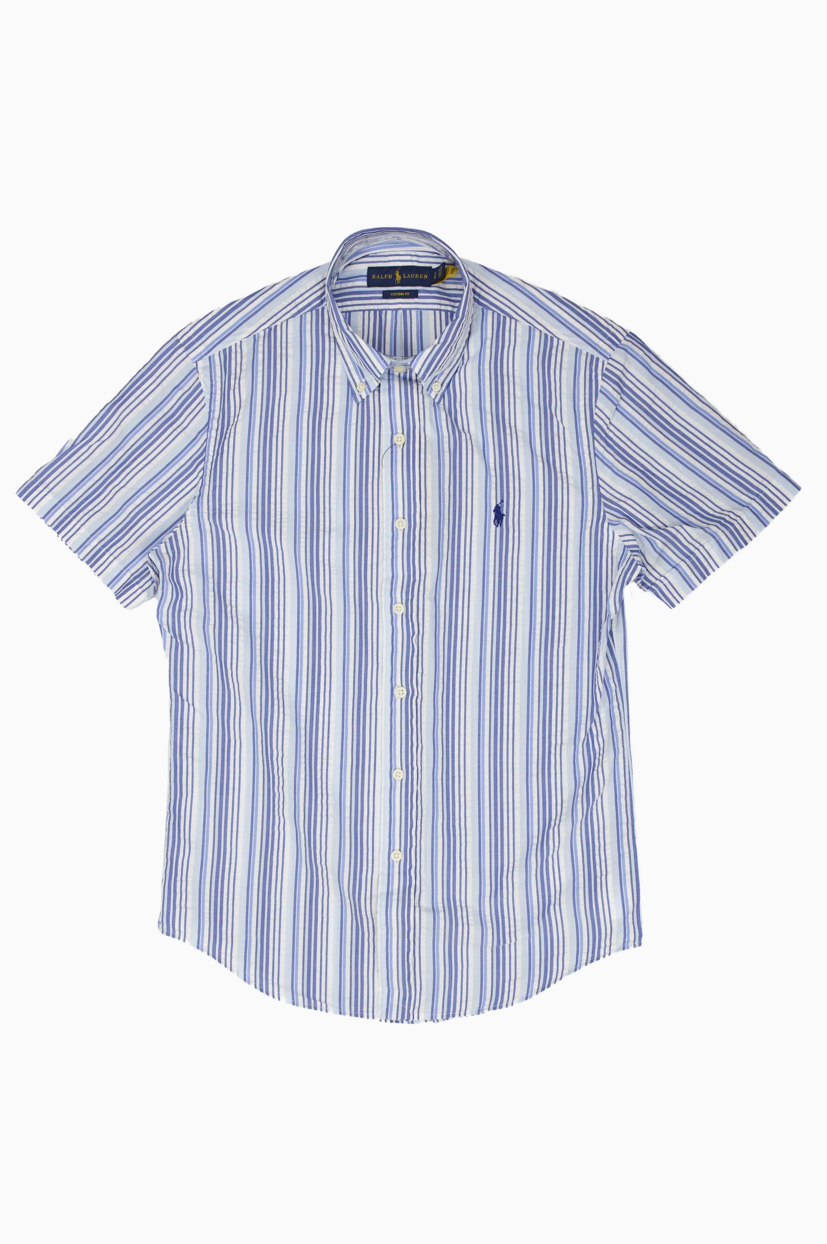 Seersucker Striped Shirt White/Blue
