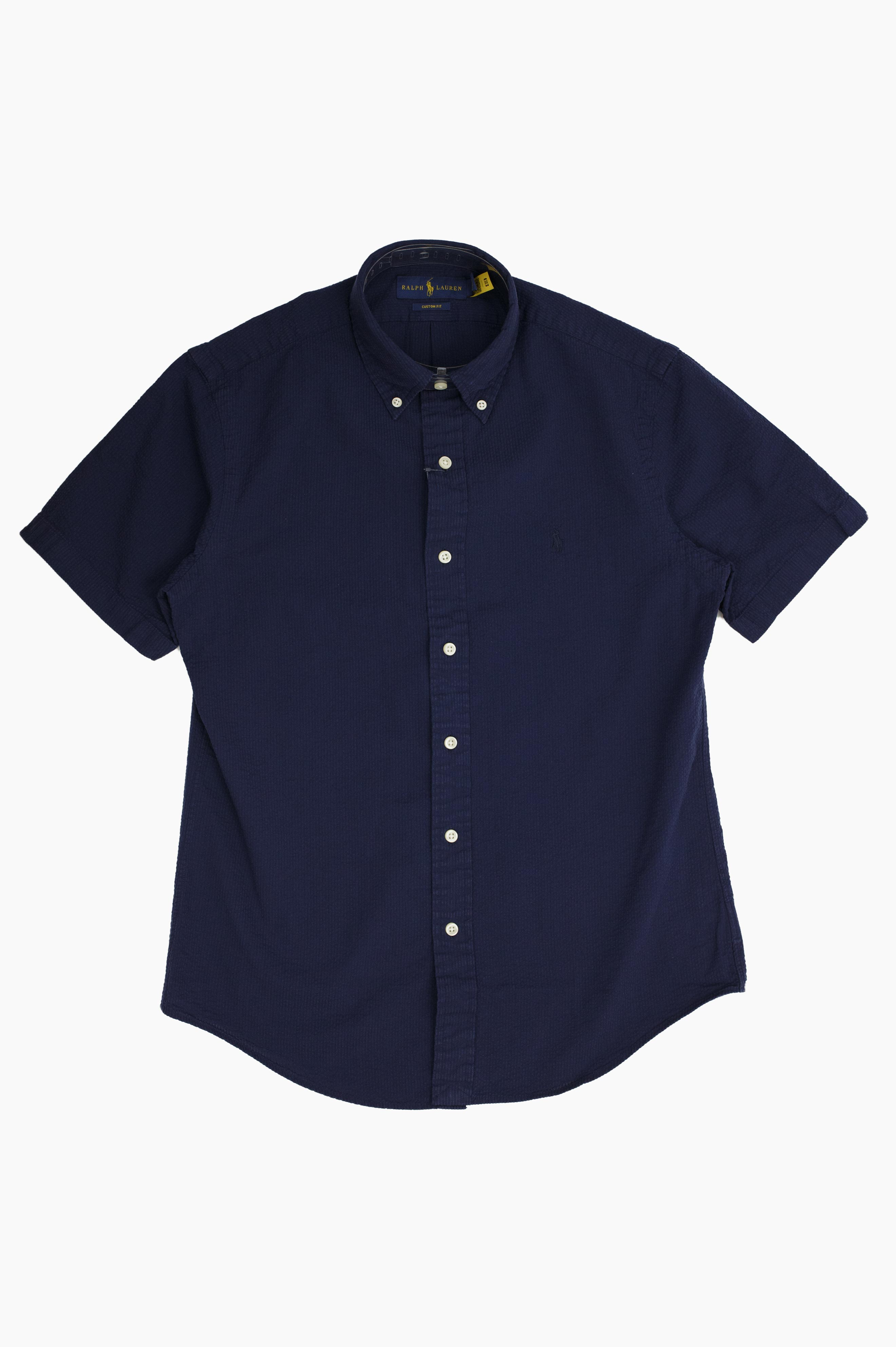 Seersucker Shirt Navy