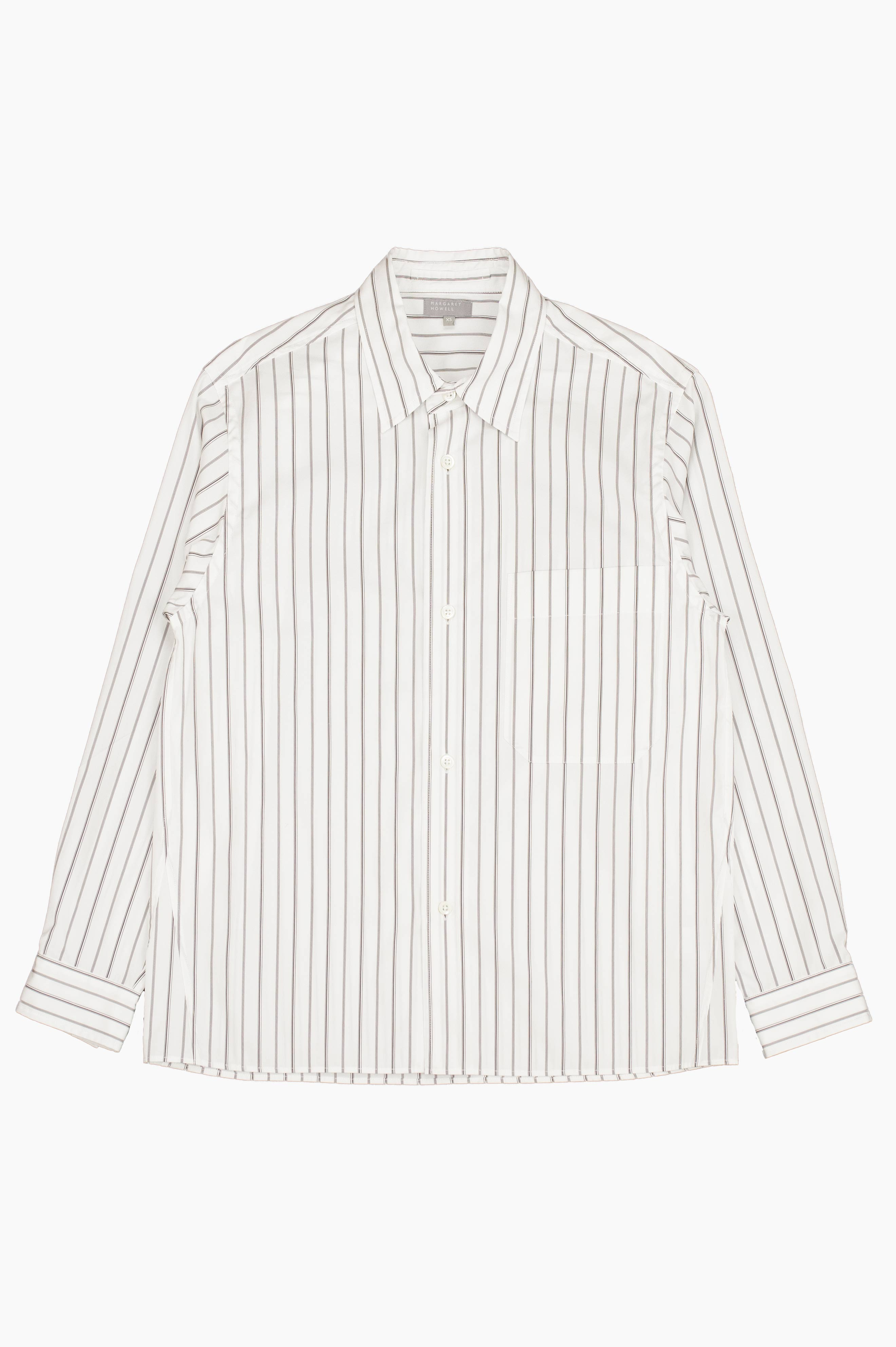 Oversized Shirt Triple Stripe White/Brown