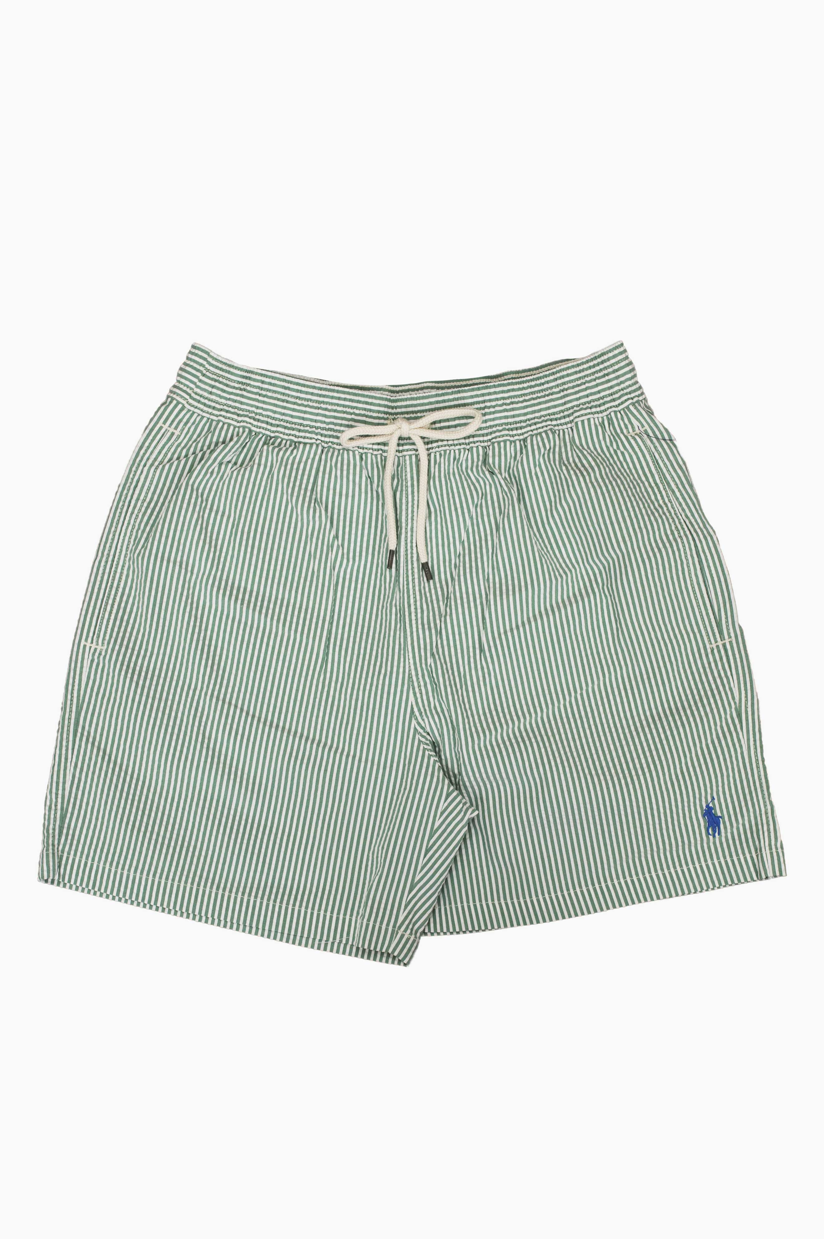 Traveler Seersucker Swim Shorts Green