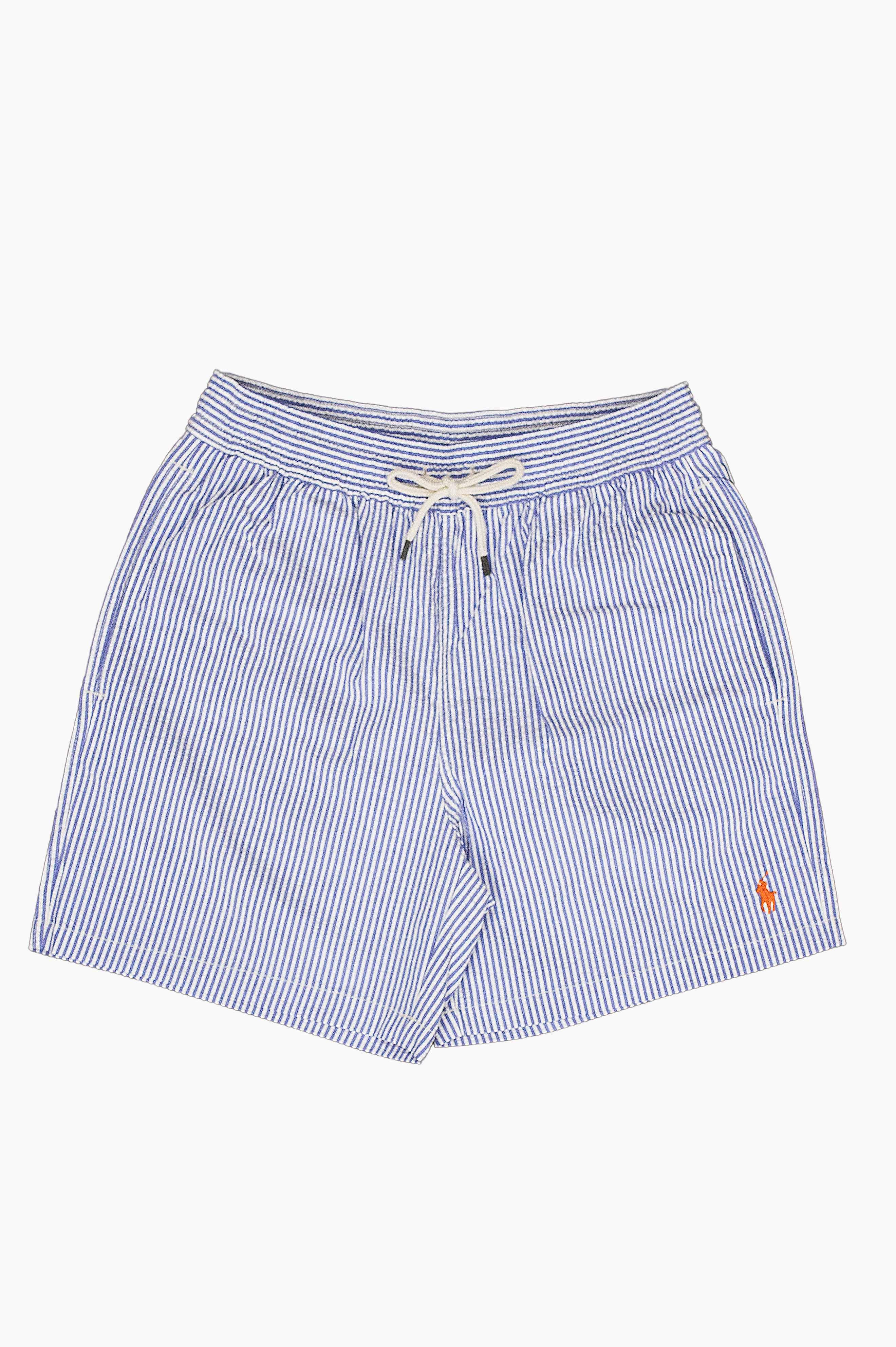 Traveler Seersucker Swim Shorts Blue