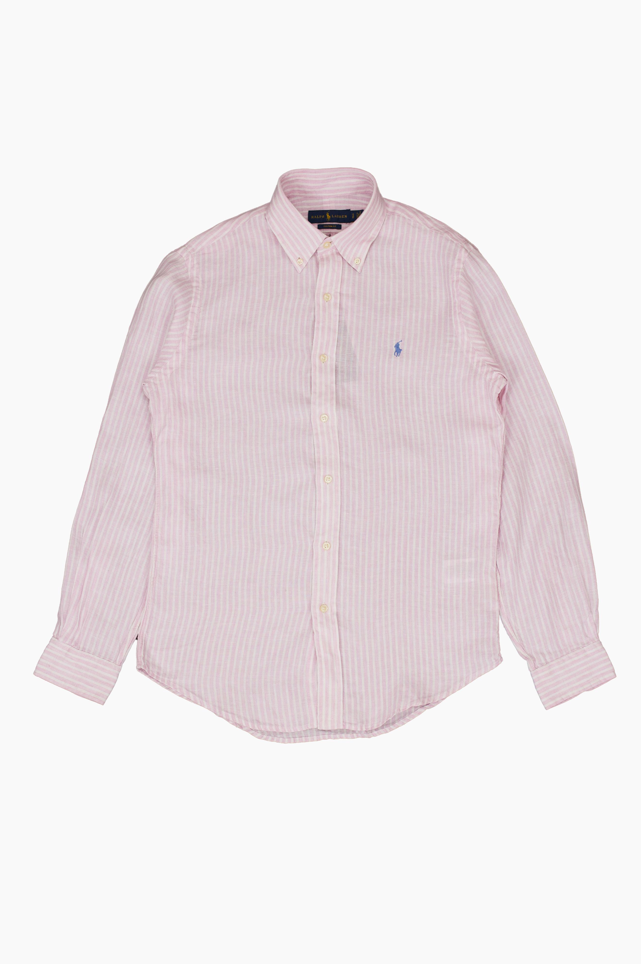 Striped Linen Shirt Pink