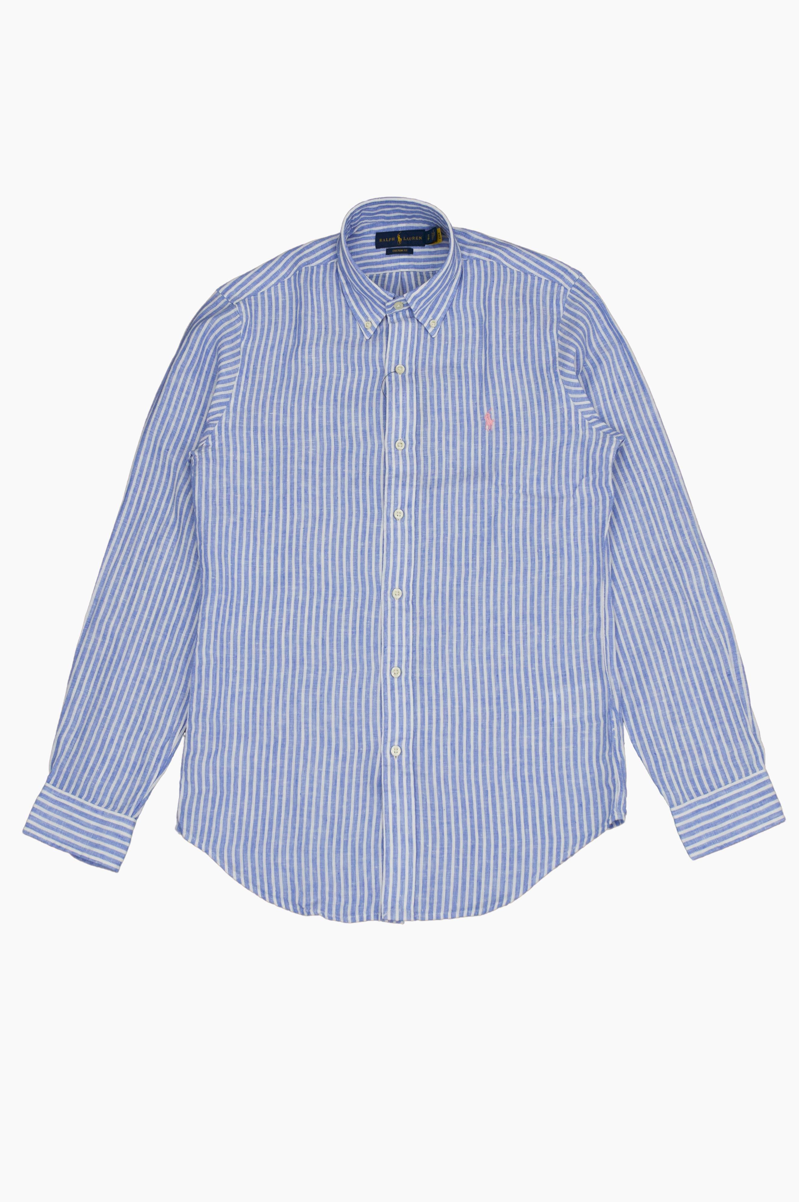 Striped Linen Shirt Blue