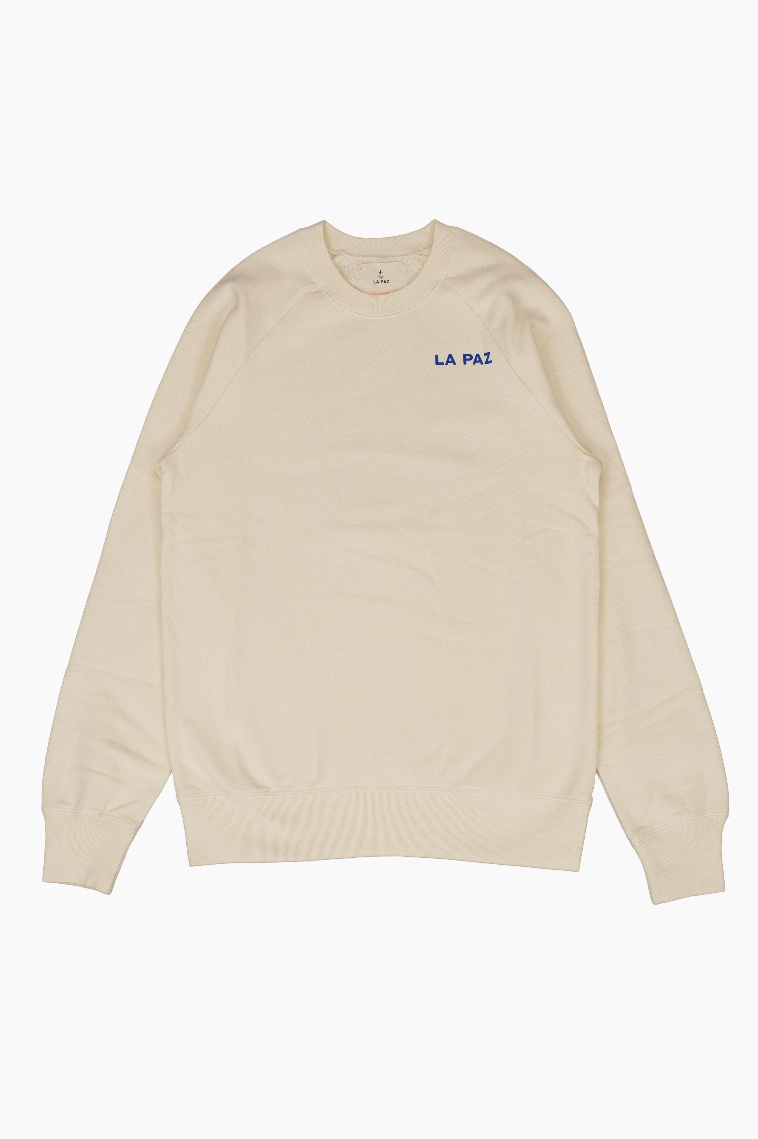 Cunha Blue Circle Sweatshirt Ecru