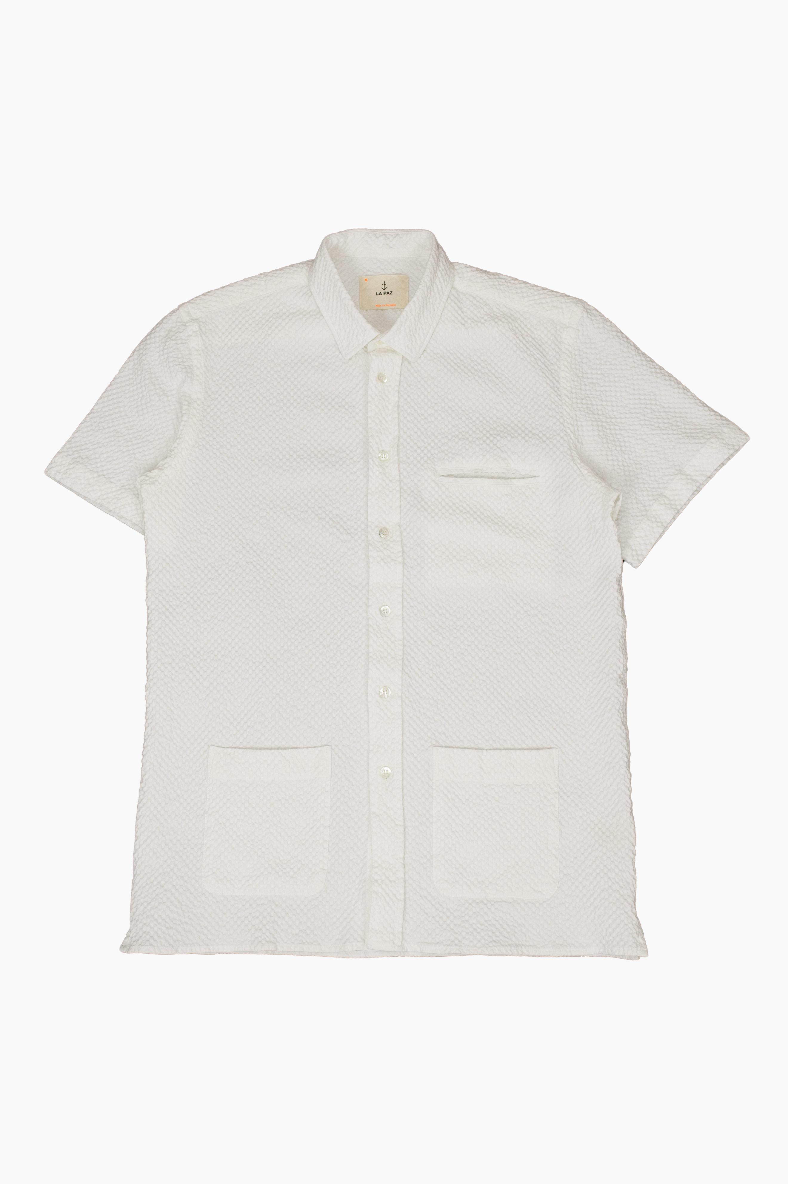 Castro Short Sleeve Shirt Off White Waffle