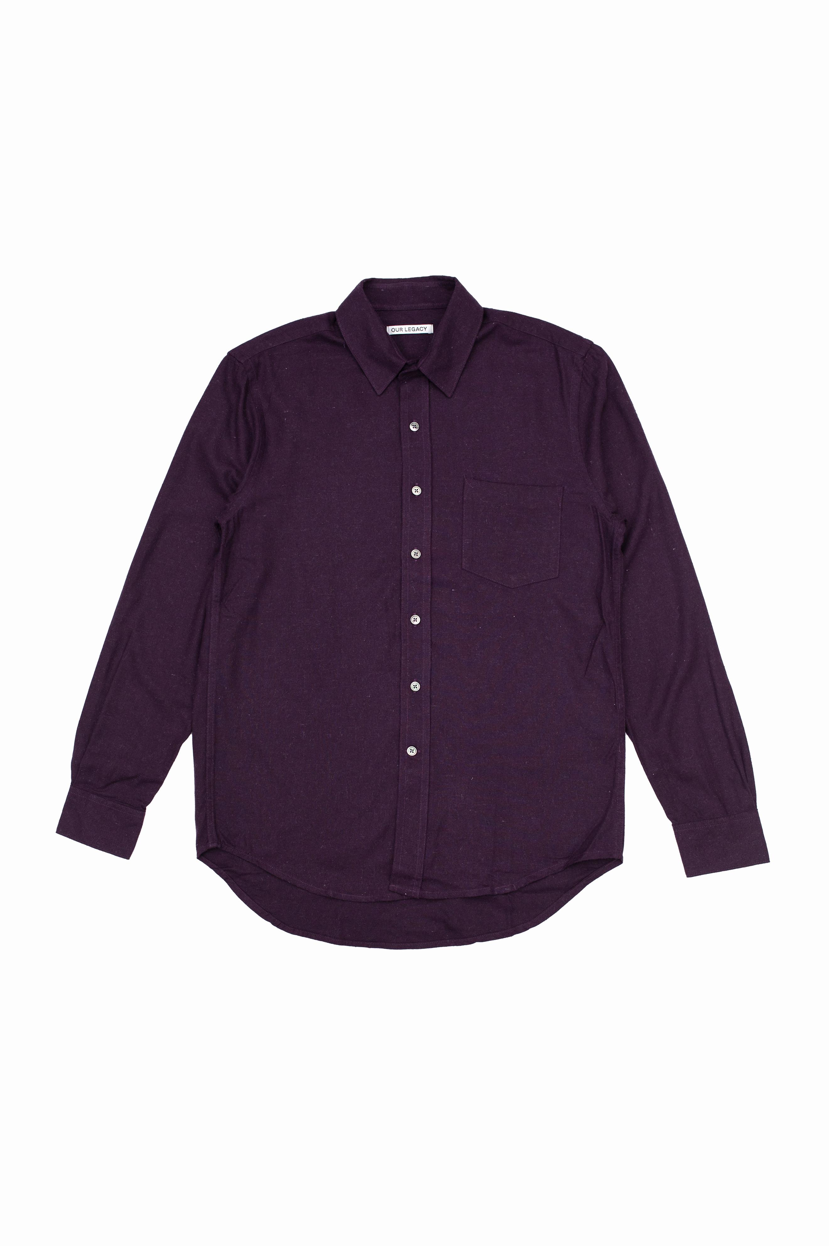 Classic Shirt Plum Silk Noil