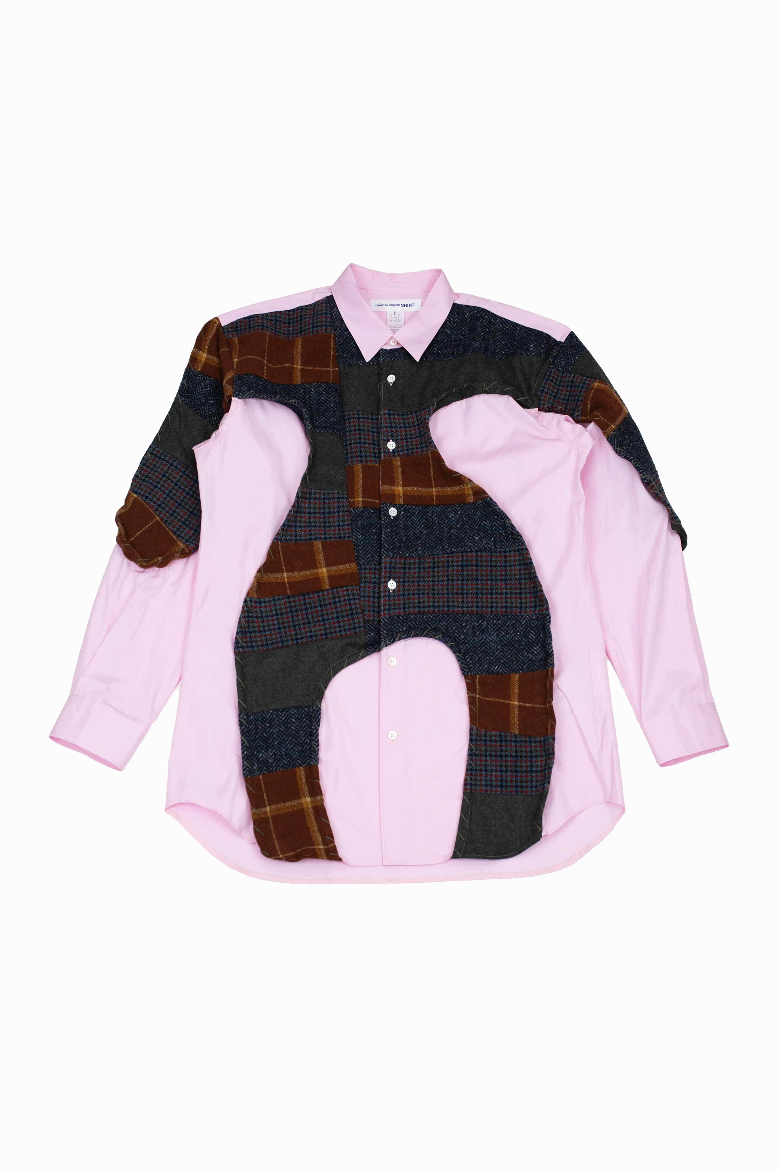 Wool Patched Shirt Pink