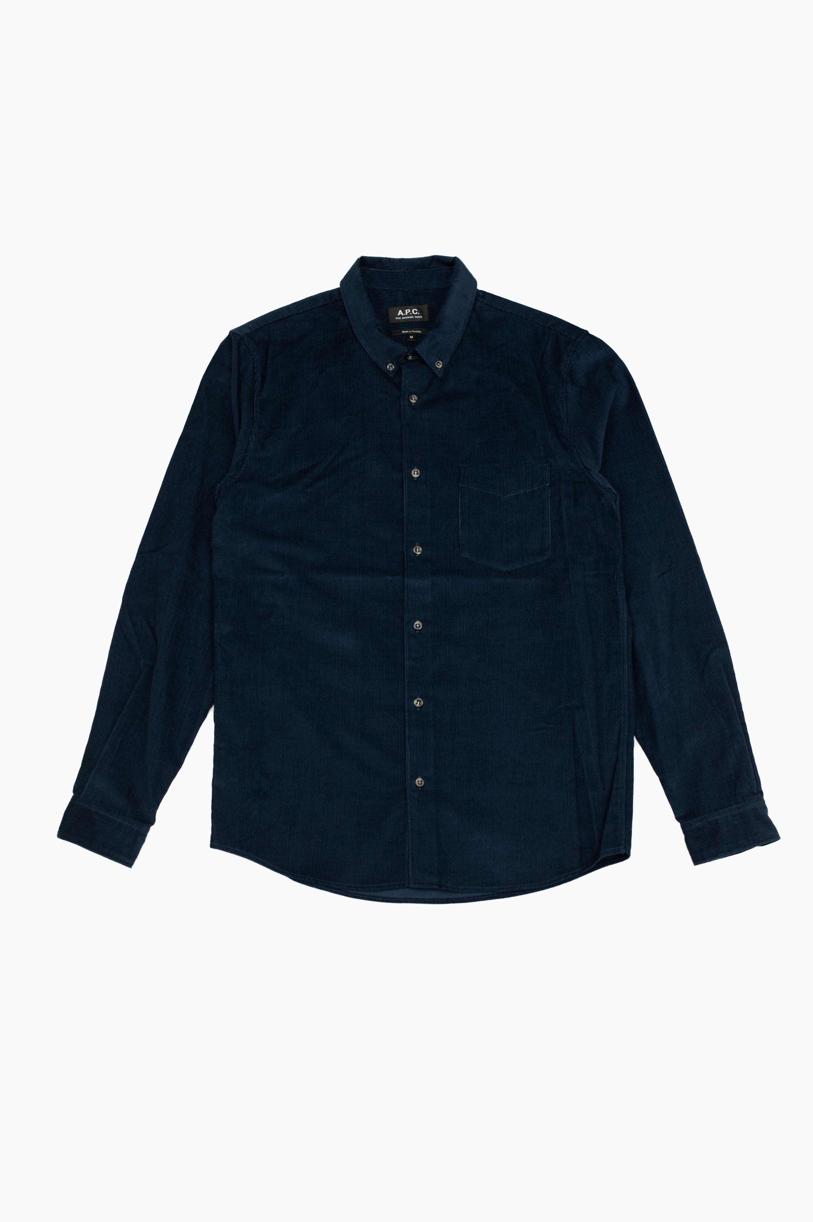 Serge Corduroy Shirt Navy