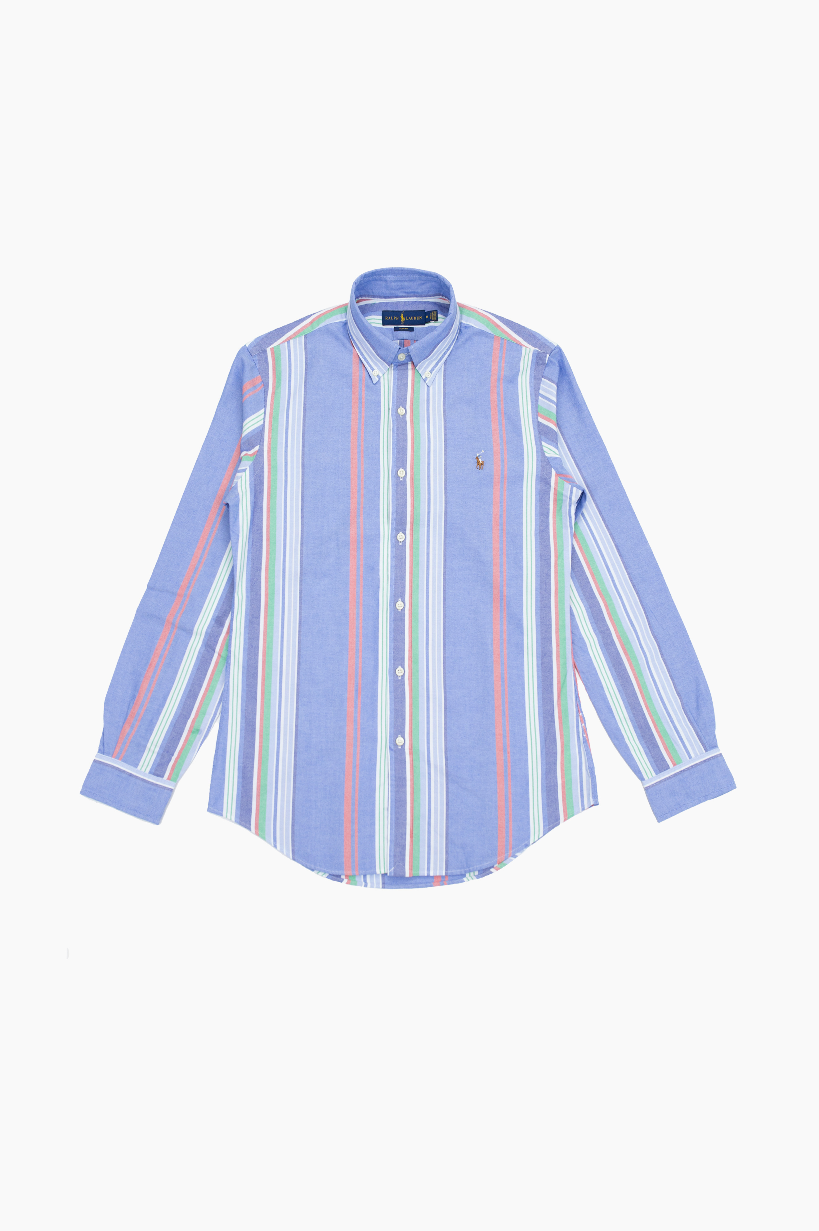Fun Mix Striped Button Down Shirt Blue