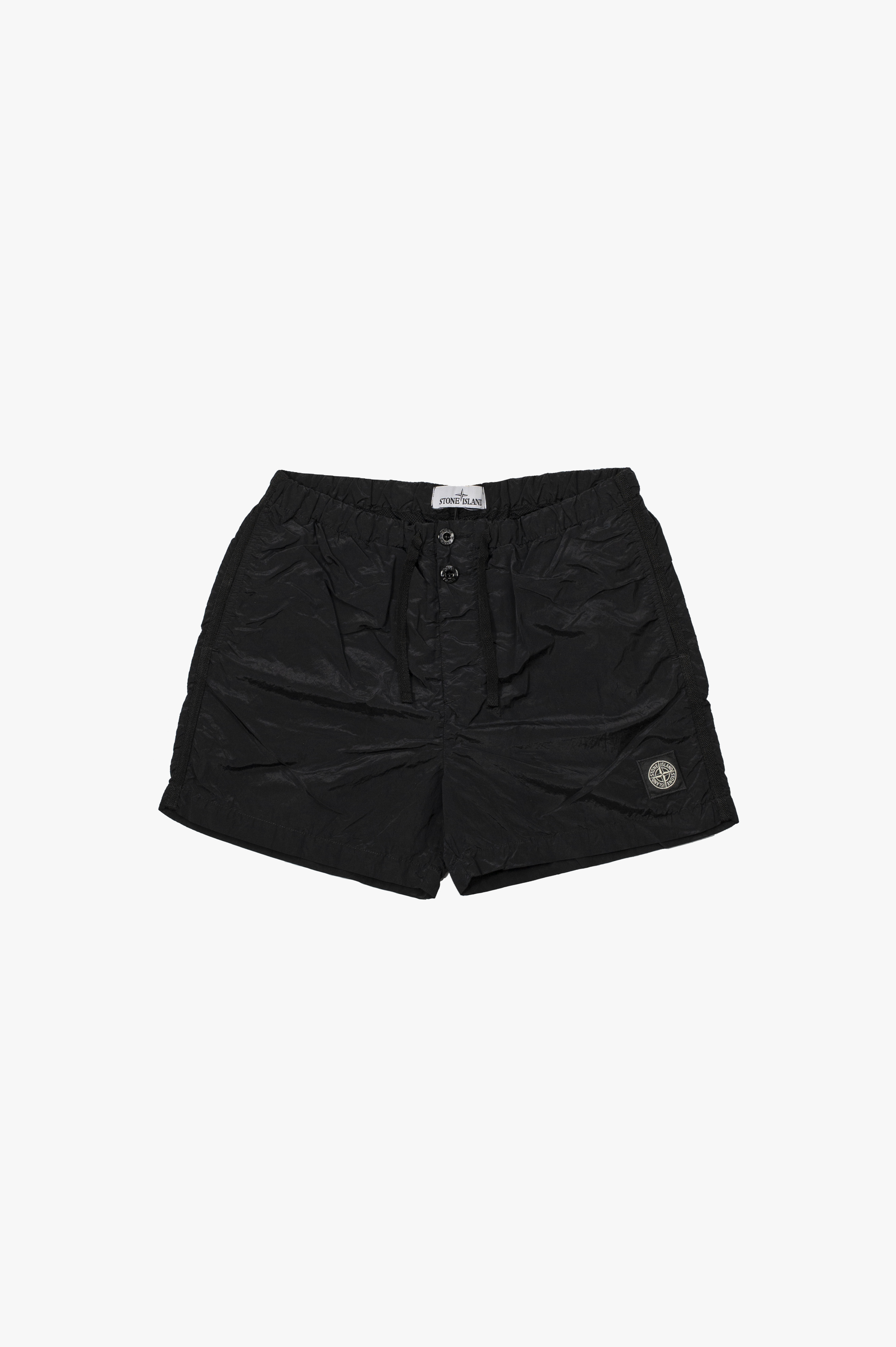 Nylon Metal Swim Shorts Black