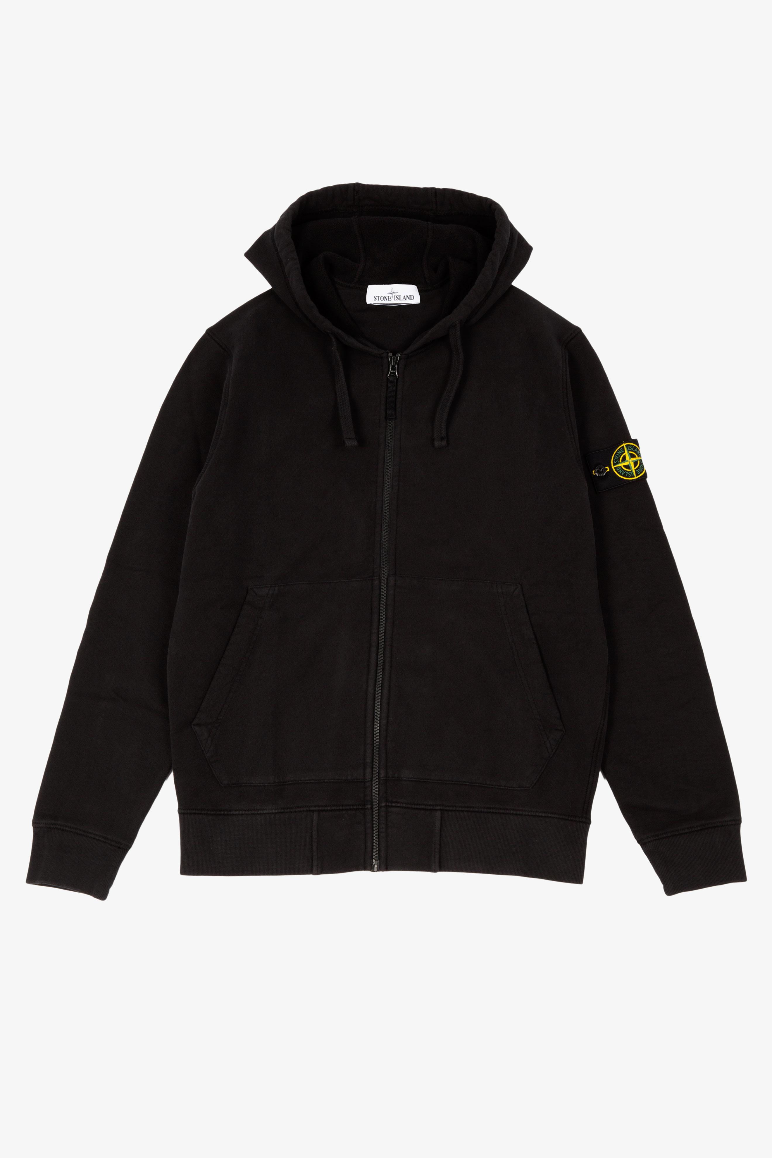 Zip Hooded Sweatshirt Black