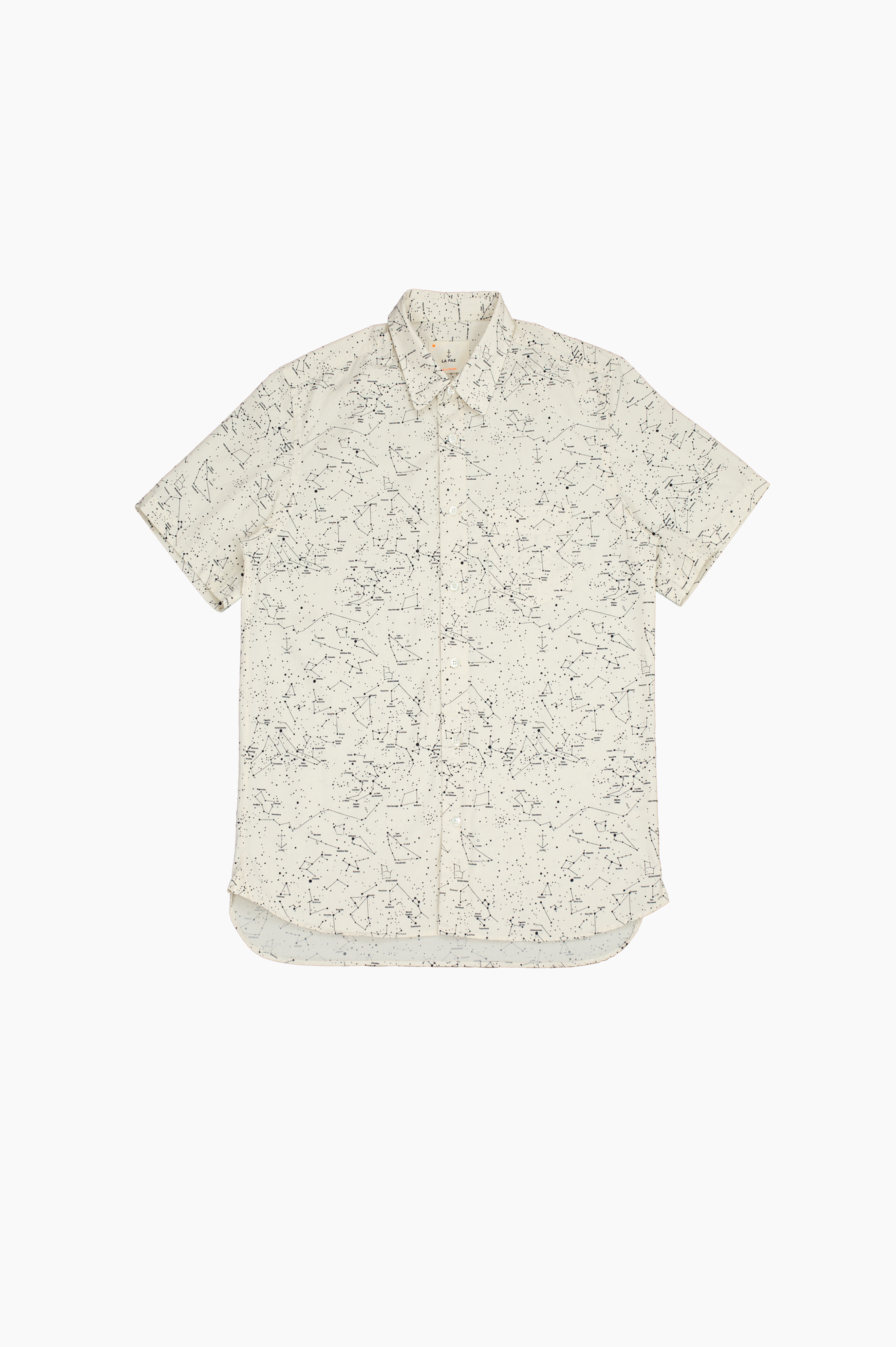 Alegre Sky Map Short Sleeve Shirt Off White