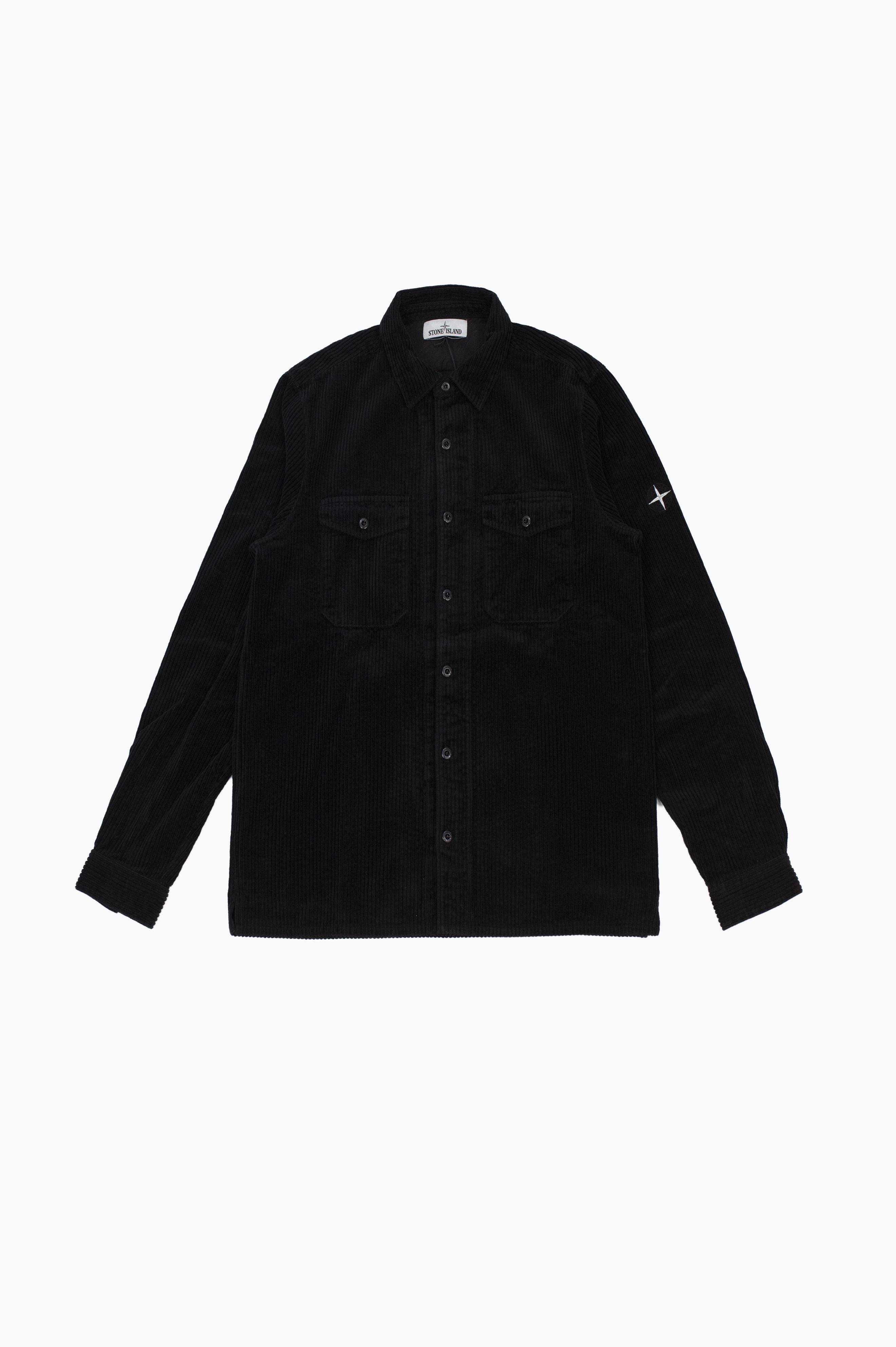 Corduroy Over Shirt Black