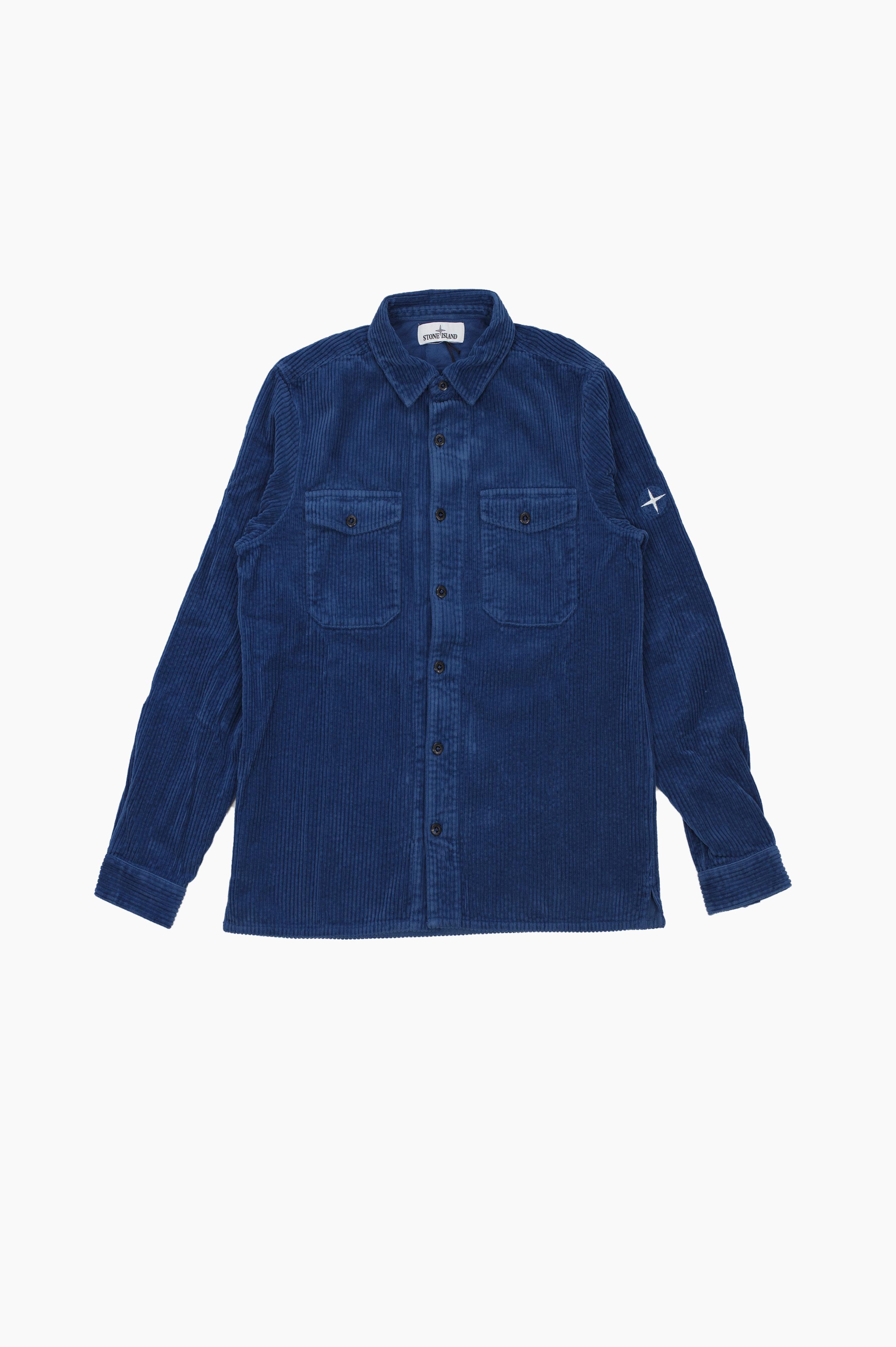 Corduroy Over Shirt Blue