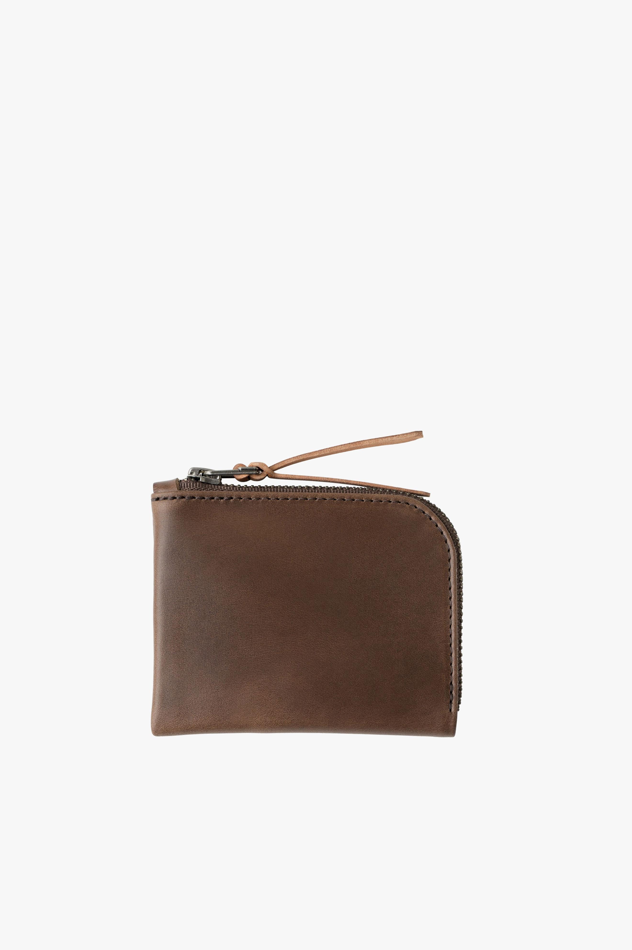 Zip Luxe Wallet Bark Horween® Chromexcel Leather