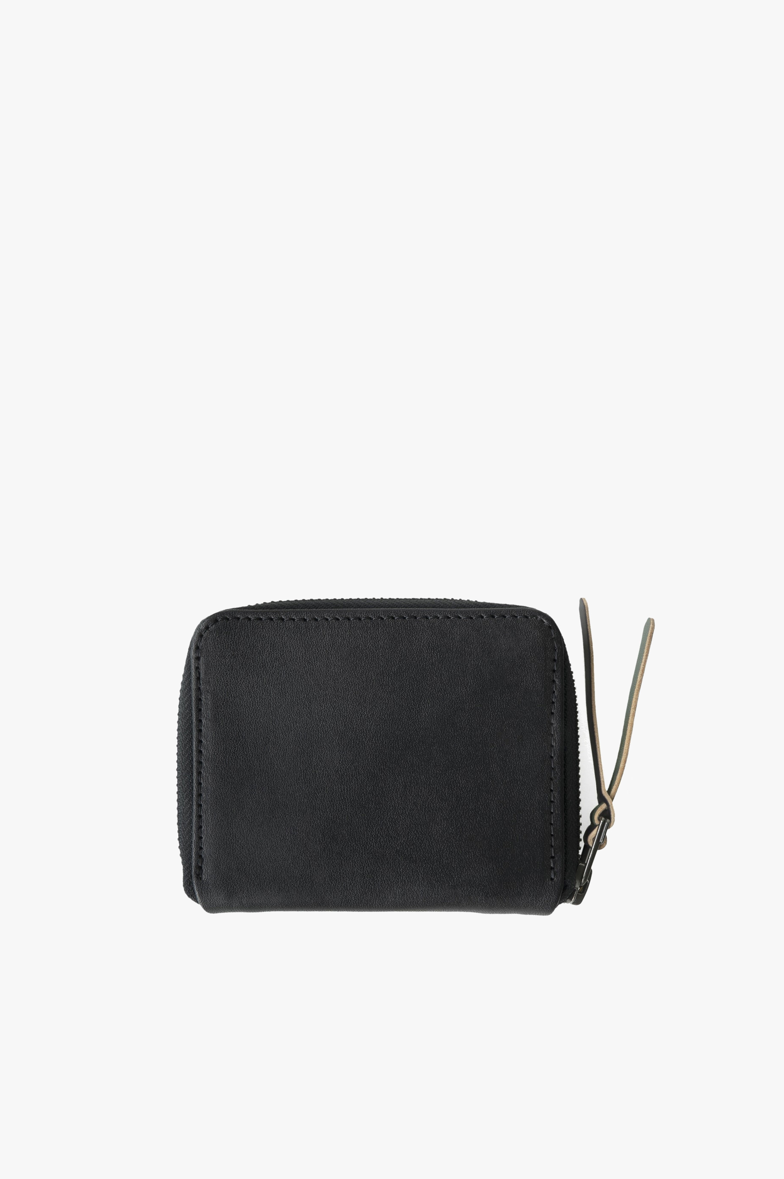 3/4 Zip Wallet Wickett and Craig® Vegetable Tanned Black Leather