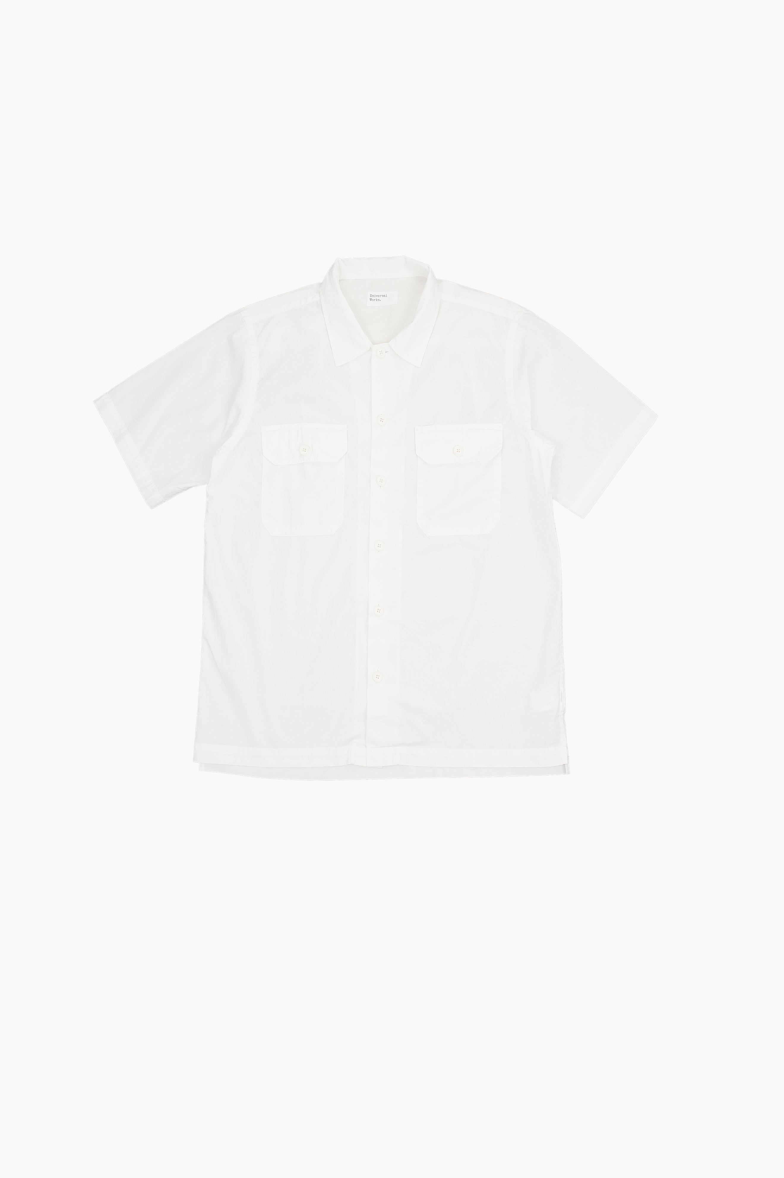 Utility Shirt White Poplin